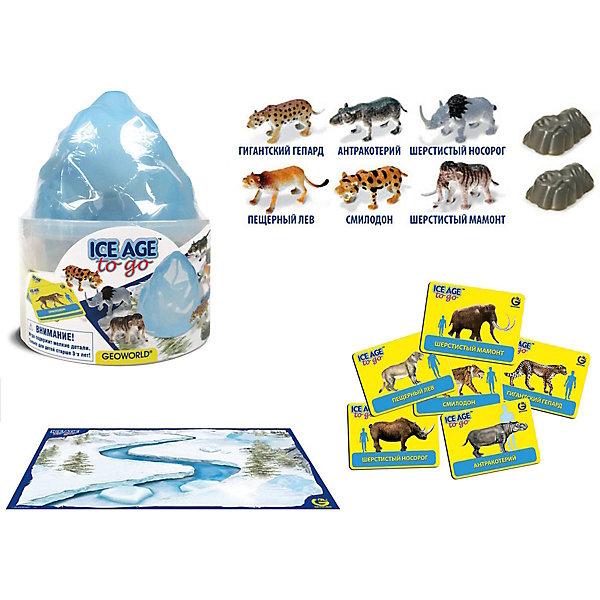 """Игровой набор """"Путешествуй и Играй! Ice Age to Go""""Мир животных<br>Игровой набор """"Путешествуй и Играй! Ice Age to Go"""".<br><br>Характеристики:<br><br>• В наборе: 6 игровых фигурок животных ледникового периода, 2 скалы, 6 карточек, игровое поле–постер<br>• Размер фигурок: 5 см.<br>• Размер постера: 59х42 см.<br>• Материал: пластик, картон<br>• Размер упаковки: 12,5x12,5x15 см.<br><br>С научно-познавательным игровым набором """"Путешествуй и Играй! Ice Age to Go"""" ваш ребенок «воссоздаст» доисторический мир в ледниковый период и «поселит» на его просторах животных ледникового периода. Набор включает в себя 6 фигурок животных, которые раскрашены вручную. Фигурки выполнены с высокой степенью научной достоверности, в соответствии с прогрессивными взглядами науки. <br><br>Животным, входящим в набор, соответствуют карточки с научной информацией о каждом из них. В наборе также есть большой постер с изображением заснеженного ландшафта, 2 пластиковые скалы. Набор изготовлен из высококачественных материалов, которые абсолютно безопасны для ребенка.<br><br>Игровой набор """"Путешествуй и Играй! Ice Age to Go"""" можно купить в нашем интернет-магазине.<br>Ширина мм: 125; Глубина мм: 125; Высота мм: 150; Вес г: 202; Возраст от месяцев: 48; Возраст до месяцев: 48; Пол: Женский; Возраст: Детский; SKU: 5490342;"""
