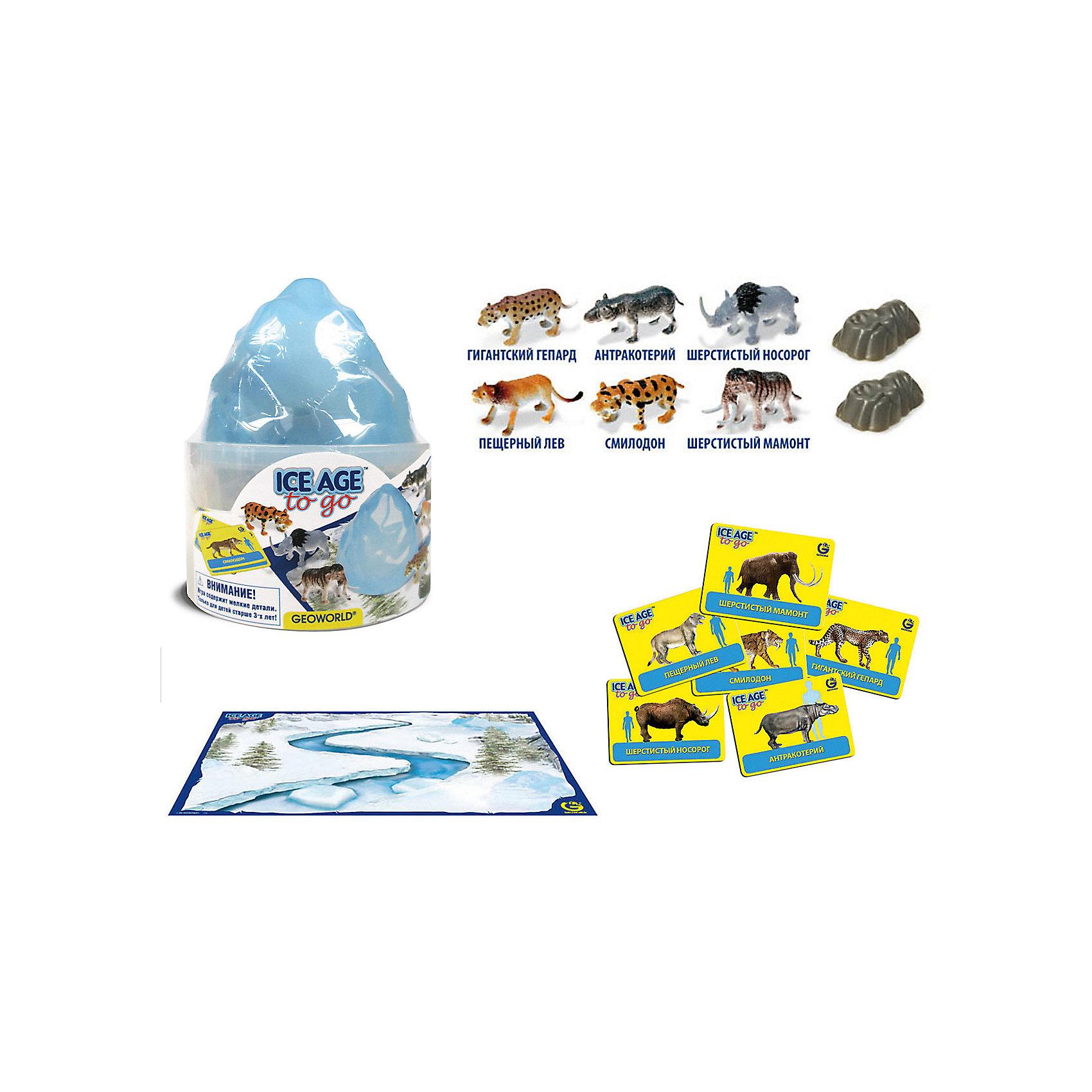 """Игровой набор """"Путешествуй и Играй! Ice Age to Go""""Динозавры и драконы<br>Игровой набор """"Путешествуй и Играй! Ice Age to Go"""".<br><br>Характеристики:<br><br>• В наборе: 6 игровых фигурок животных ледникового периода, 2 скалы, 6 карточек, игровое поле–постер<br>• Размер фигурок: 5 см.<br>• Размер постера: 59х42 см.<br>• Материал: пластик, картон<br>• Размер упаковки: 12,5x12,5x15 см.<br><br>С научно-познавательным игровым набором """"Путешествуй и Играй! Ice Age to Go"""" ваш ребенок «воссоздаст» доисторический мир в ледниковый период и «поселит» на его просторах животных ледникового периода. Набор включает в себя 6 фигурок животных, которые раскрашены вручную. Фигурки выполнены с высокой степенью научной достоверности, в соответствии с прогрессивными взглядами науки. <br><br>Животным, входящим в набор, соответствуют карточки с научной информацией о каждом из них. В наборе также есть большой постер с изображением заснеженного ландшафта, 2 пластиковые скалы. Набор изготовлен из высококачественных материалов, которые абсолютно безопасны для ребенка.<br><br>Игровой набор """"Путешествуй и Играй! Ice Age to Go"""" можно купить в нашем интернет-магазине.<br><br>Ширина мм: 125<br>Глубина мм: 125<br>Высота мм: 150<br>Вес г: 202<br>Возраст от месяцев: 48<br>Возраст до месяцев: 48<br>Пол: Женский<br>Возраст: Детский<br>SKU: 5490342"""