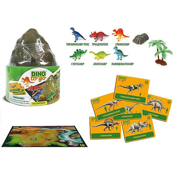 """Игровой набор """"Путешествуй и Играй! Dino to Go""""Мир животных<br>Игровой набор """"Путешествуй и Играй! Dino to Go"""".<br><br>Характеристики:<br><br>• В наборе: 6 игровых фигурок динозавров, 1 скала, 1 дерево, 6 карточек, игровое поле – постер<br>• Размер фигурок: 5 см.<br>• Размер постера: 59х42 см.<br>• Материал: пластик, картон<br>• Размер упаковки: 12,5x12,5x15 см.<br><br>С научно-познавательным игровым набором """"Путешествуй и Играй! Dino to Go"""" ваш ребенок «воссоздаст» доисторический мир и «поселит» на его просторах древних ящеров. Набор включает в себя 6 фигурок динозавров, которые раскрашены вручную. Фигурки выполнены с высокой степенью научной достоверности, в соответствии с современными взглядами палеонтологии. <br><br>Животным, входящим в набор, соответствуют карточки с научной информацией о каждом из них. В наборе также есть большой постер с изображением доисторического ландшафта, пластиковая скала и дерево. Набор изготовлен из высококачественных материалов, которые абсолютно безопасны для ребенка.<br><br>Игровой набор """"Путешествуй и Играй! Dino to Go"""" можно купить в нашем интернет-магазине.<br>Ширина мм: 125; Глубина мм: 125; Высота мм: 150; Вес г: 204; Возраст от месяцев: 48; Возраст до месяцев: 48; Пол: Женский; Возраст: Детский; SKU: 5490343;"""