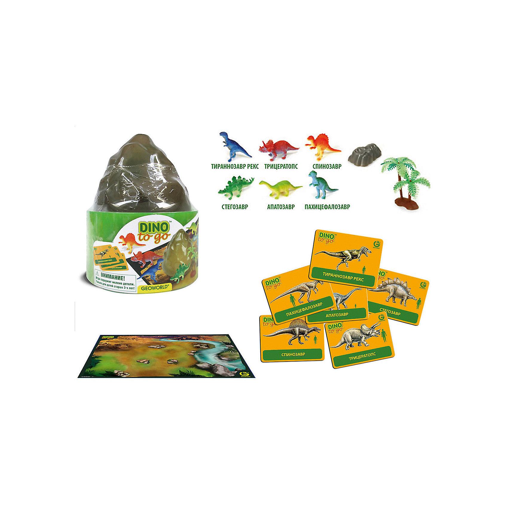"""Игровой набор """"Путешествуй и Играй! Dino to Go""""Динозавры и драконы<br>Игровой набор """"Путешествуй и Играй! Dino to Go"""".<br><br>Характеристики:<br><br>• В наборе: 6 игровых фигурок динозавров, 1 скала, 1 дерево, 6 карточек, игровое поле – постер<br>• Размер фигурок: 5 см.<br>• Размер постера: 59х42 см.<br>• Материал: пластик, картон<br>• Размер упаковки: 12,5x12,5x15 см.<br><br>С научно-познавательным игровым набором """"Путешествуй и Играй! Dino to Go"""" ваш ребенок «воссоздаст» доисторический мир и «поселит» на его просторах древних ящеров. Набор включает в себя 6 фигурок динозавров, которые раскрашены вручную. Фигурки выполнены с высокой степенью научной достоверности, в соответствии с современными взглядами палеонтологии. <br><br>Животным, входящим в набор, соответствуют карточки с научной информацией о каждом из них. В наборе также есть большой постер с изображением доисторического ландшафта, пластиковая скала и дерево. Набор изготовлен из высококачественных материалов, которые абсолютно безопасны для ребенка.<br><br>Игровой набор """"Путешествуй и Играй! Dino to Go"""" можно купить в нашем интернет-магазине.<br><br>Ширина мм: 125<br>Глубина мм: 125<br>Высота мм: 150<br>Вес г: 204<br>Возраст от месяцев: 48<br>Возраст до месяцев: 48<br>Пол: Женский<br>Возраст: Детский<br>SKU: 5490343"""
