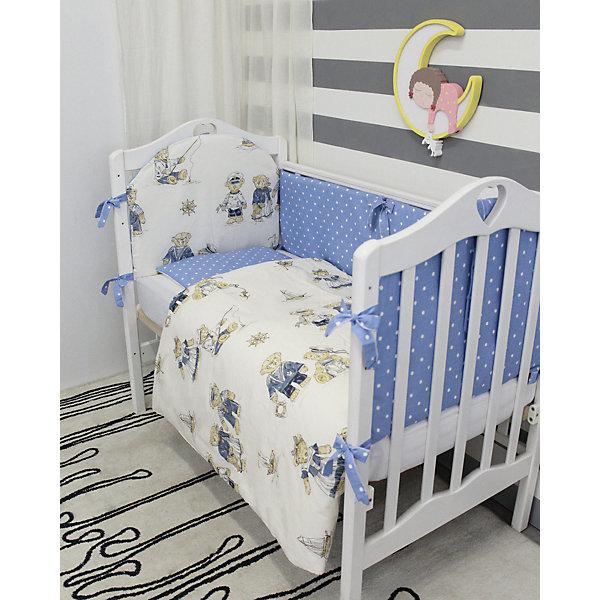 Постельное белье Мишки Морячки, 3 пред., by Twinz, коричневыеПостельное белье в кроватку новорождённого<br>Характеристики:<br><br>• Вид домашнего текстиля: постельное белье<br>• Тип постельного белья по размерам: детское<br>• Пол: для мальчика<br>• Материал: хлопок, 100% <br>• Цвет: молочный, бежевый, синий<br>• Тематика рисунка: морская, мишутки<br>• Комплектация: <br> пододеяльник на молнии 105*145 см – 1 шт. <br> простынь на резинке 125*65 см – 1 шт. <br> наволочка 36*46 см – 1 шт. <br>• Тип упаковки: книжка <br>• Вес в упаковке: 655 г<br>• Размеры упаковки (Д*Ш*В): 42*5*26 см<br>• Особенности ухода: машинная стирка при температуре 30 градусов без использования отбеливающих веществ<br><br>Постельное белье Мишки Морячки, 3 пред., by Twinz, коричневые изготовлено под отечественным торговым брендом, выпускающим текстиль и мебель из натуральных материалов для новорожденных и детей. Комплект состоит из трех предметов: пододеяльника, простыни и наволочки. <br><br>Размер изделий подходит для деткских кроваток классических моделей размером 100*60 см и 125*65 см. Комплект выполнен из 100% хлопка, который обладает мягкостью, гигроскопичностью, гипоаллергенностью. Тщательно выполненные швы на изделиях обеспечивают постельному белью прочность и длительный срок службы. <br><br>Простынь за счет резинок хорошо фиксируется на матрасике, что препятствует ее сползанию и сбиванию даже во время беспокойного сна. Постельное белье выполнено в стильном дизайне с оригинальным рисунком: на молочный фон нанесен принт из крупных медвежат в образе моряков и морячек. Постельное белье Мишки Морячки, 3 пред., by Twinz, коричневые подарит вашему малышу спокойный и крепкий сон и создаст яркий неповторимый образ детской кроватки!<br><br>Постельное белье Мишки Морячки, 3 пред., by Twinz, коричневые можно купить в нашем интернет-магазине.<br>Ширина мм: 420; Глубина мм: 260; Высота мм: 50; Вес г: 655; Возраст от месяцев: 0; Возраст до месяцев: 36; Пол: Мужской; Возраст: Детский; SKU: 5491508;