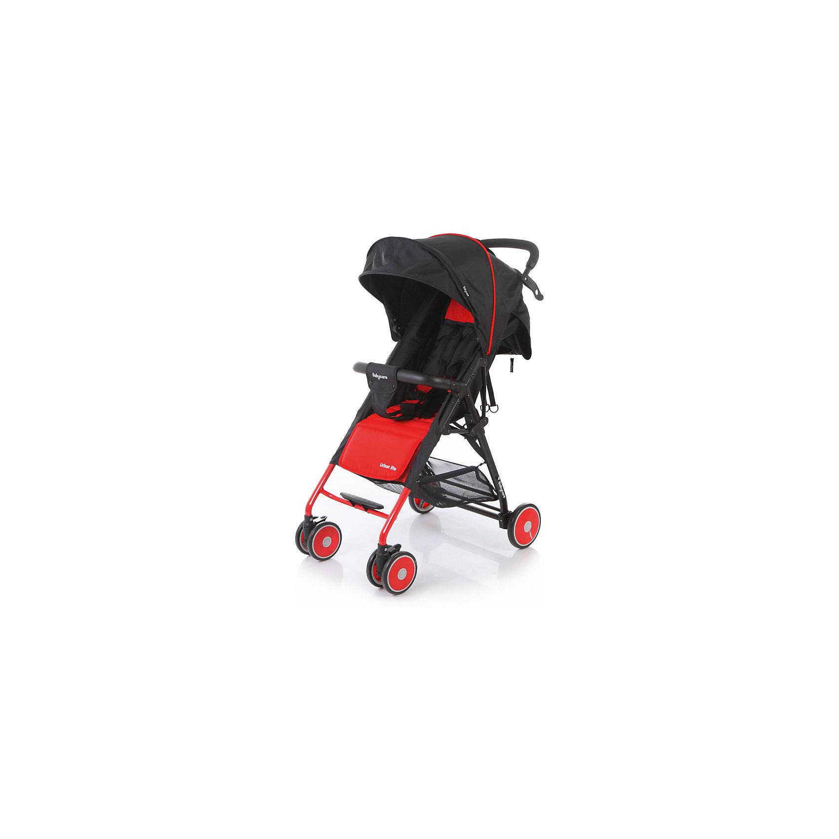 Прогулочная коляска Baby Care Urban Lite, красныйПрогулочные коляски<br>Характеристики коляски Baby Care Urban Lite:<br><br>• плавно регулируемый наклон спинки при помощи ременного механизма;<br>• складной капюшон с солнцезащитным козырьком;<br>• смотровое окошко для наблюдения за ребенком;<br>• задняя часть капюшона открывается для вентиляции воздуха;<br>• съемный бампер с дополнительным разделителем между ножек;<br>• регулируемая при помощи ремня подножка;<br>• ручка родителей с мягкой нескользящей накладкой;<br>• 5-ти точечные ремни безопасности с мягкими накладками;<br>• ширина сидения 33,5 см;<br>• материал: полиэстер.<br><br>Прогулочная коляска Baby Care Urban Lite — легкая маневренная коляска для прогулок по городу, поездок на природу и путешествия. Просторное сидение, откидывающая спинка и регулируемая подножка обеспечивают малышу максимально комфортную прогулку. Коляска компактно складывается, не занимает много места, ее можно перевозить в багажнике автомобиля. <br><br>Шасси коляски:<br><br>• легкая алюминиевая рама;<br>• передние поворотные колеса сдвоенные, с возможностью фиксации;<br>• задние колеса одинарные;<br>• диаметр передних колес 13 см, задних — 15,3 см;<br>• ширина колесной базы 51 см;<br>• амортизаторы на передних колесах для смягчения хода;<br>• ножной тормоз;<br>• тип складывания «книжка»;<br>• устойчива в сложенном виде;<br>• корзина для покупок размером 40х34х14 см.<br><br>Размер коляски в разложенном виде 87х51х103 см<br>Размер коляски в сложенном виде 67х51х25 см<br>Вес коляски 5,4 кг<br>Размер упаковки 66х46х18 см<br>Вес в упаковке 6,2 кг<br><br>Комплектация:<br><br>• прогулочный блок<br>• корзина для покупок;<br>• чехол на ножки;<br>• инструкция.<br><br>Прогулочную коляску Baby Care Urban Lite красную можно приобрести в нашем интернет-магазине.<br><br>Ширина мм: 660<br>Глубина мм: 460<br>Высота мм: 180<br>Вес г: 6200<br>Возраст от месяцев: 6<br>Возраст до месяцев: 36<br>Пол: Унисекс<br>Возраст: Детский<br>SKU: 5493334