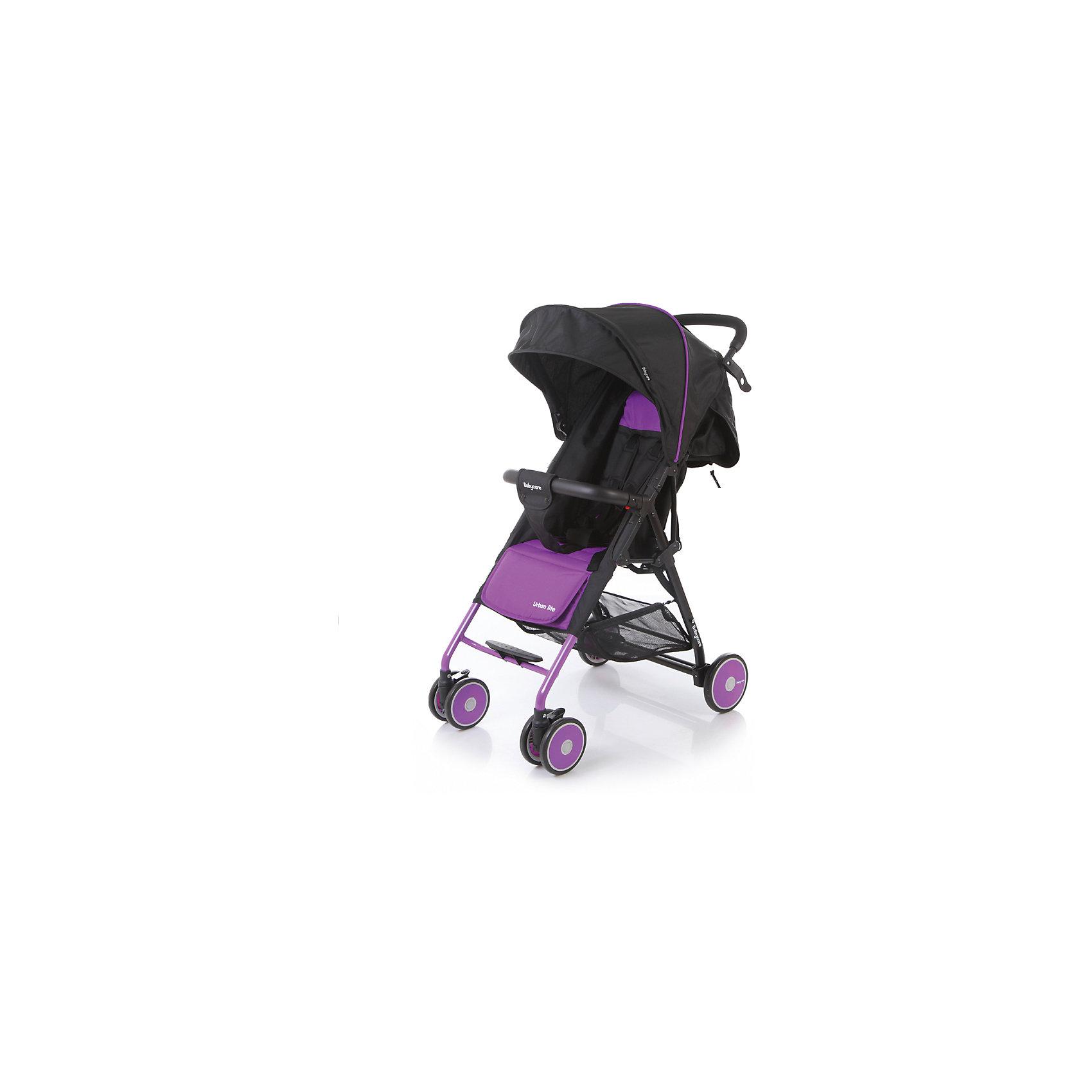 Прогулочная коляска Baby Care Urban Lite, фиолетовыйПрогулочные коляски<br>Характеристики коляски Baby Care Urban Lite:<br><br>• плавно регулируемый наклон спинки при помощи ременного механизма;<br>• складной капюшон с солнцезащитным козырьком;<br>• смотровое окошко для наблюдения за ребенком;<br>• задняя часть капюшона открывается для вентиляции воздуха;<br>• съемный бампер с дополнительным разделителем между ножек;<br>• регулируемая при помощи ремня подножка;<br>• ручка родителей с мягкой нескользящей накладкой;<br>• 5-ти точечные ремни безопасности с мягкими накладками;<br>• ширина сидения 33,5 см;<br>• материал: полиэстер.<br><br>Прогулочная коляска Baby Care Urban Lite — легкая маневренная коляска для прогулок по городу, поездок на природу и путешествия. Просторное сидение, откидывающая спинка и регулируемая подножка обеспечивают малышу максимально комфортную прогулку. Коляска компактно складывается, не занимает много места, ее можно перевозить в багажнике автомобиля. <br><br>Шасси коляски:<br><br>• легкая алюминиевая рама;<br>• передние поворотные колеса сдвоенные, с возможностью фиксации;<br>• задние колеса одинарные;<br>• диаметр передних колес 13 см, задних — 15,3 см;<br>• ширина колесной базы 51 см;<br>• амортизаторы на передних колесах для смягчения хода;<br>• ножной тормоз;<br>• тип складывания «книжка»;<br>• устойчива в сложенном виде;<br>• корзина для покупок размером 40х34х14 см.<br><br>Размер коляски в разложенном виде 87х51х103 см<br>Размер коляски в сложенном виде 67х51х25 см<br>Вес коляски 5,4 кг<br>Размер упаковки 66х46х18 см<br>Вес в упаковке 6,2 кг<br><br>Комплектация:<br><br>• прогулочный блок<br>• корзина для покупок;<br>• чехол на ножки;<br>• инструкция.<br><br>Прогулочную коляску Baby Care Urban Lite фиолетовую можно приобрести в нашем интернет-магазине.<br><br>Ширина мм: 660<br>Глубина мм: 460<br>Высота мм: 180<br>Вес г: 6200<br>Возраст от месяцев: 6<br>Возраст до месяцев: 36<br>Пол: Унисекс<br>Возраст: Детский<br>SKU: 5493337