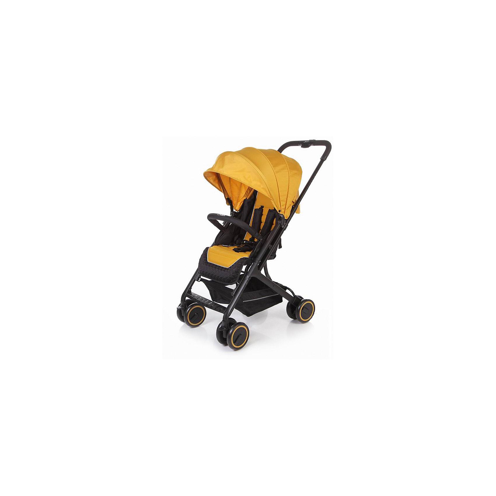 Прогулочная коляска Micro, Jetem, тёмно-жёлтыйJetem  Micro - новая прогулочная коляска, легкая и маневренная. Особенностью данной модели является телескопическая ручка, которая позволяет  компактно сложить коляску.Высота спинки регулируется плавно с помощью ремней. Коляску можно легко и компактно сложить одной рукой. В комплекте есть чехол на ножки и корзинка для покупок. Коляска имеет 5-ти точечные ремни безопасности и регулируемую подножку. <br>Особенности:·         алюминиевая рама·         телескопическая ручка·         5-ти точеные ремни безопасности·         съемный бампер с мягкой обивкой·         очень компактное складывание·         спинка регулируется при помощи ремней·         ножная тормозная система·         регулируемая подножка·         амортизация передних и задних колёс·         коляска может стоять в сложенном состоянии<br>Комплектация:·         Чехол на ноги<br>Характеристики:·         диаметр колес: передние – 15.3 см, задние — 15.3 см·         тип колес: передние-двойные, задние- двойные·         механизм складывания: книжка·         вес: 6.1 кг·         ширина сиденья: 31.5 см·         размер корзины: 33х32х13.5 см·         размер в разложенном виде: 68х51х94 см·         размер в сложенном виде: 70х51х29 см<br><br>Ширина мм: 530<br>Глубина мм: 520<br>Высота мм: 260<br>Вес г: 7800<br>Возраст от месяцев: 6<br>Возраст до месяцев: 36<br>Пол: Унисекс<br>Возраст: Детский<br>SKU: 5493340