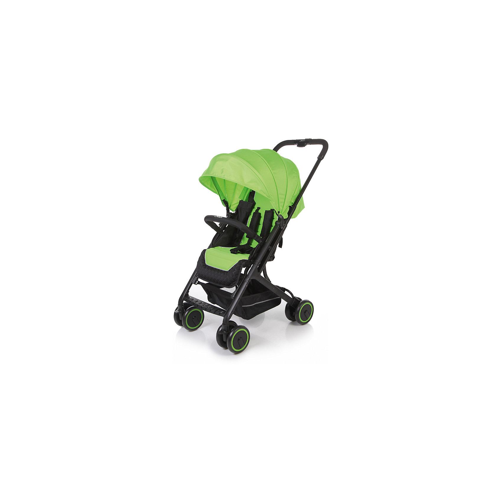 Прогулочная коляска Jetem Micro, зелёныйПрогулочные коляски<br>Характеристики коляски Jetem Micro:<br><br>• плавно регулируемая спинка при помощи ременного механизма;<br>• съемный бампер, обтянутый мягкой тканью;<br>• регулируемая подножка;<br>• 5-ти точечные ремни безопасности с мягкими накладками;<br>• материал: полиэстер.<br><br>Прогулочная коляска Jetem Micro — легкая и маневренная коляска, которая подойдет для городских и загородных прогулок и путешествий. Телескопическая ручка позволяет быстро сложить коляску одной рукой. Спинка плавно опускается сразу в нескольких положениях, что дает возможность малышу отдохнуть и поспать на прогулке. <br><br>Шасси коляски:<br><br>• легкая алюминиевая рама;<br>• все колеса коляски сдвоенные;<br>• передние колеса поворотные с возможностью блокировки;<br>• диаметр колес 15,3 см;<br>• ширина колесной базы 51 см;<br>• амортизаторы на всех колесах для смягчения неровностей на дороге;<br>• тип складывания «книжка»;<br>• телескопическая ручка;<br>• ножной тормоз;<br>• корзина для покупок размером  33х32х13,5 см<br>• компактное сложение одной рукой;<br>• устойчива в сложенном виде.<br><br>Размер коляски в разложенном виде 68х51х94 см<br>Размер коляски в сложенном виде 70х51х29 см<br>Вес коляски 6,1 кг<br>Размер упаковки 53х52х26 см<br>Вес упаковки 7,8 кг<br><br>Комплектация:<br><br>• прогулочный блок;<br>• корзина для покупок;<br>• накидка на ножки;<br>• инструкция.<br><br>Прогулочную коляску Jetem Micro зеленую можно приобрести в нашем интернет-магазине.<br><br>Ширина мм: 530<br>Глубина мм: 520<br>Высота мм: 260<br>Вес г: 7800<br>Возраст от месяцев: 6<br>Возраст до месяцев: 36<br>Пол: Унисекс<br>Возраст: Детский<br>SKU: 5493341