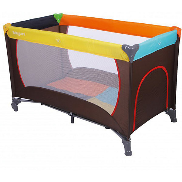 Манеж Arena, Baby Care, разноцветныйДетские кроватки<br>Характеристики товара:<br><br>• возраст с рождения до 3 лет;<br>• материал: пластик, текстиль<br>• допустимый вес эксплуатации: до 14 кг<br>• высота от матраса до борта: 60 см<br>• манеж быстро складывается и быстро раскладывается<br>• есть замок-фиксатор, защищающий от произвольного складывания<br>• боковой лаз на молнии<br>• можно использовать как в помещении, так и на природе<br>• 2 колеса<br>• размер матраса 118х59 см;<br>• размер манежа 122х62х74 см;<br>• вес манежа 7,5 кг;<br>• размер упаковки 75х21х20 см;<br>• вес упаковки 7,8 кг.<br><br>Манеж Baby Care Arena — практичный манеж для отдыха и игр малыша, пока мама занята домашними делами. Боковины манежа выполнены из сетчатой ткани, которая обеспечивает циркуляцию воздуха. Когда малыш подрастет, он будет учиться залазить и вылазить из манежа через боковой лаз на молнии. Конструкция отличается хорошей устойчивостью благодаря 4 ножкам и дополнительной опоре по центру. 2 колеса облегчают перемещение по квартире. Углы манежа закрыты пластиковыми накладками, чтобы исключить случайные повреждения. Специальный замок препятствует самопроизвольное складывание манежа. Манеж легко и быстро складывается.<br><br>Комплектация:<br><br>• манеж;<br>• сумка для транспортировки.<br><br>Манеж Baby Care Arena разноцветный можно приобрести в нашем интернет-магазине.<br>Ширина мм: 750; Глубина мм: 210; Высота мм: 200; Вес г: 7800; Возраст от месяцев: 0; Возраст до месяцев: 36; Пол: Унисекс; Возраст: Детский; SKU: 5493351;