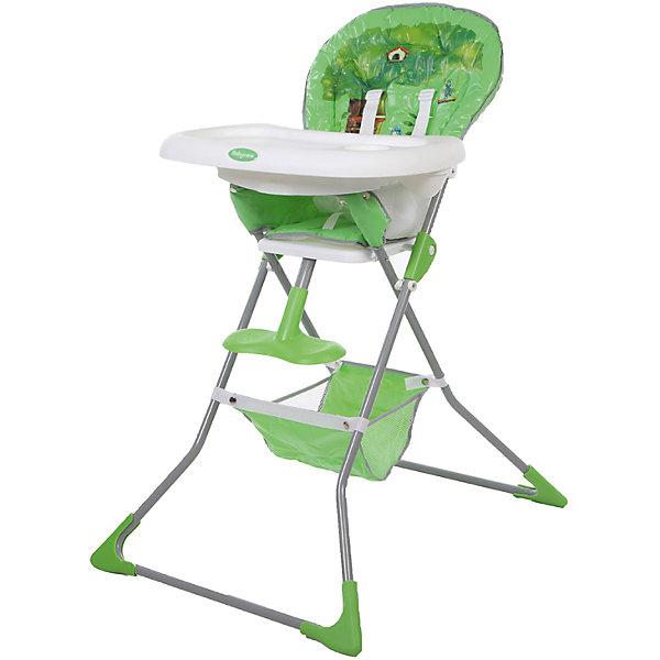 Стульчик для кормления Tea Time, Baby Care, зелёныйСтульчики для кормления с 6 месяцев<br>Характеристики товара:<br><br>• возраст от 6 месяцев;<br>• материал сидения: ПВХ;<br>• регулировка глубины столешницы в 3 положениях;<br>• регулируемая пластиковая подножка;<br>• 5-ти точечные ремни безопасности;<br>• дополнительный пластиковый разделитель между ножек;<br>• под сидением корзина для вещей и игрушек;<br>• съёмный чехол<br>• стоит самостоятельно в сложенном виде.<br><br>Стульчик для кормления Baby Care Tea Time — практичный и удобный стульчик для приучения малыша кушать самостоятельно. Сидение изготовлено из мягкой ткани. Чехол по мере загрязнения снимается и стирается. В стульчика малыша удерживают 5-ти точечные ремни безопасности. Для комфортной посадки предусмотрена пластиковая регулируемая подножка. Под сидением расположена сетчатая корзинка для детских игрушек, салфеток, полотенец.<br><br>Размер стульчика в разложенном виде 64х76х101 см<br>Размер стульчика в сложенном виде 64х13х124 см<br>Ширина сидения 29 см<br>Вес стульчика 5,1 кг<br>Размер упаковки 64х38х20 см<br>Вес упаковки 6,1 кг<br><br>Стульчик для кормления Baby Care Tea Time зеленый можно приобрести в нашем интернет-магазине.<br><br>Ширина мм: 640<br>Глубина мм: 380<br>Высота мм: 200<br>Вес г: 6100<br>Возраст от месяцев: 6<br>Возраст до месяцев: 36<br>Пол: Унисекс<br>Возраст: Детский<br>SKU: 5493360