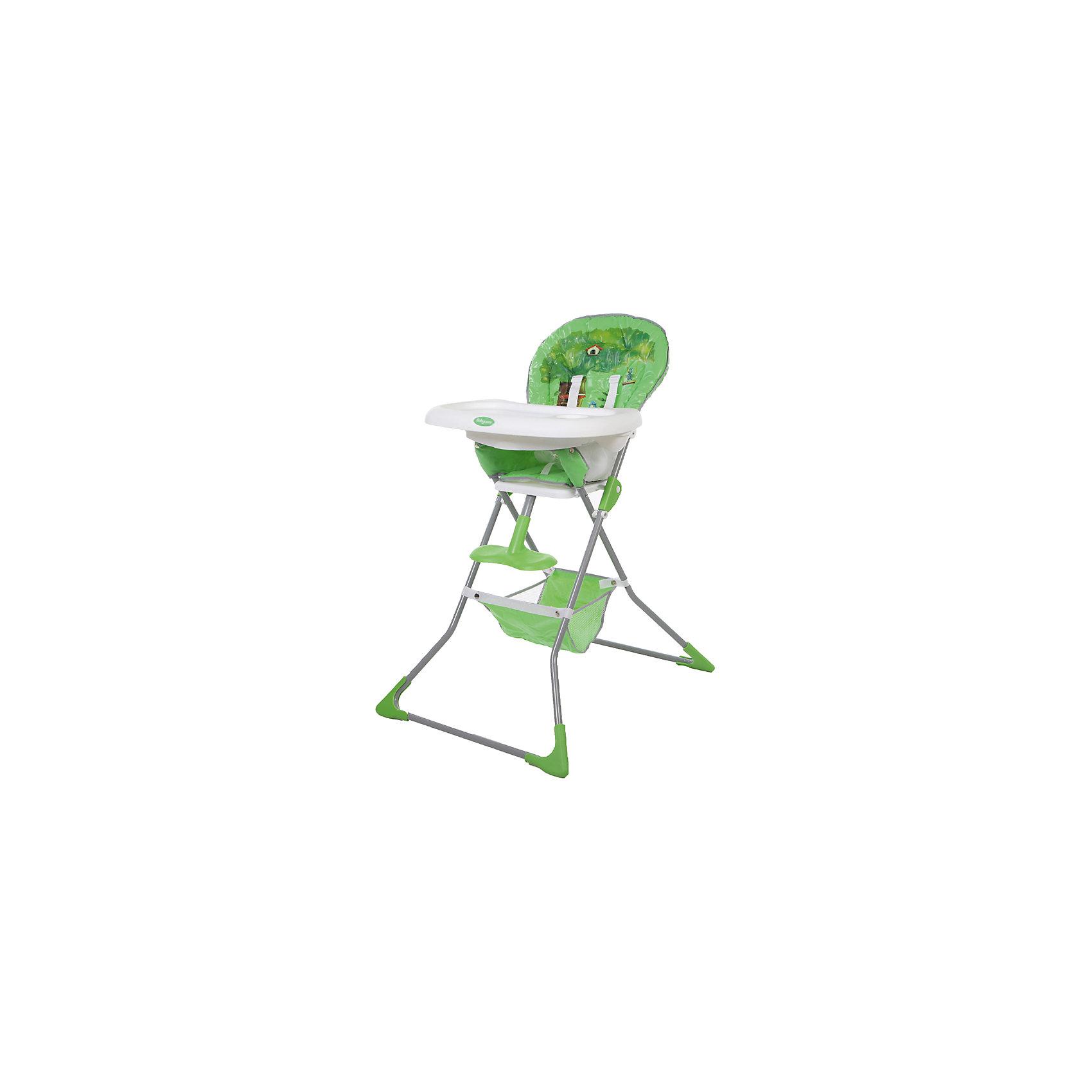 Стульчик для кормления Tea Time, Baby Care, зелёныйот +6 месяцев<br>Характеристики товара:<br><br>• возраст от 6 месяцев;<br>• материал сидения: ПВХ;<br>• регулировка глубины столешницы в 3 положениях;<br>• регулируемая пластиковая подножка;<br>• 5-ти точечные ремни безопасности;<br>• дополнительный пластиковый разделитель между ножек;<br>• под сидением корзина для вещей и игрушек;<br>• съёмный чехол<br>• стоит самостоятельно в сложенном виде.<br><br>Стульчик для кормления Baby Care Tea Time — практичный и удобный стульчик для приучения малыша кушать самостоятельно. Сидение изготовлено из мягкой ткани. Чехол по мере загрязнения снимается и стирается. В стульчика малыша удерживают 5-ти точечные ремни безопасности. Для комфортной посадки предусмотрена пластиковая регулируемая подножка. Под сидением расположена сетчатая корзинка для детских игрушек, салфеток, полотенец.<br><br>Размер стульчика в разложенном виде 64х76х101 см<br>Размер стульчика в сложенном виде 64х13х124 см<br>Ширина сидения 29 см<br>Вес стульчика 5,1 кг<br>Размер упаковки 64х38х20 см<br>Вес упаковки 6,1 кг<br><br>Стульчик для кормления Baby Care Tea Time зеленый можно приобрести в нашем интернет-магазине.<br><br>Ширина мм: 640<br>Глубина мм: 380<br>Высота мм: 200<br>Вес г: 6100<br>Возраст от месяцев: 6<br>Возраст до месяцев: 36<br>Пол: Унисекс<br>Возраст: Детский<br>SKU: 5493360