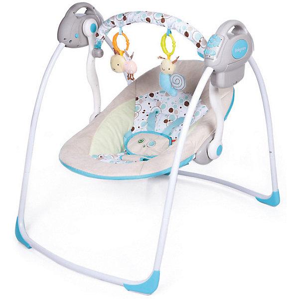 Электрокачели Riva с адаптером, Baby Care, шампаньЭлектронные качели<br>Характеристики товара:<br><br>• возраст с рождения до 6 месяцев;<br>• материал: металл, пластик, текстиль<br>• наклон спинки в 2 положениях;<br>• 6 скоростей укачивания;<br>• 10 мелодий и 3 уровня громкости;<br>• дуга с игрушками<br>• 5-ти точечные ремни безопасности;<br>• обивку сидения можно стирать в холодной воде<br>• съемный чехол сидения<br>• качели легко и компактно складываются<br><br>Электрокачели Baby Care Riva помогут молодой маме укачать и убаюкать кроху. Перед сном малыша успокоят приятные колыбельные. Дуга с подвесными игрушками развлечет малыша. Он может рассматривать их, трогать или играть с ними. Качели легко и компактно складываются для хранения дома. <br><br>Размер в разложенном виде 82х63х72 см<br>Размер в сложенном виде 79х63х24 см<br>Расстояние от пола до сидения 25 см<br>Размеры сидения 66х41 см<br>Вес электрокачелей 4,5 кг<br>Размер упаковки 60х38х13 см<br><br>Комплектация:<br><br>• качели;<br>• дуга с игрушками;<br>• сетевой адаптер.<br><br>Электрокачели Baby Care Riva с адаптером можно приобрести в нашем интернет-магазине.<br>Ширина мм: 600; Глубина мм: 380; Высота мм: 130; Вес г: 4500; Возраст от месяцев: 3; Возраст до месяцев: 6; Пол: Унисекс; Возраст: Детский; SKU: 5493368;