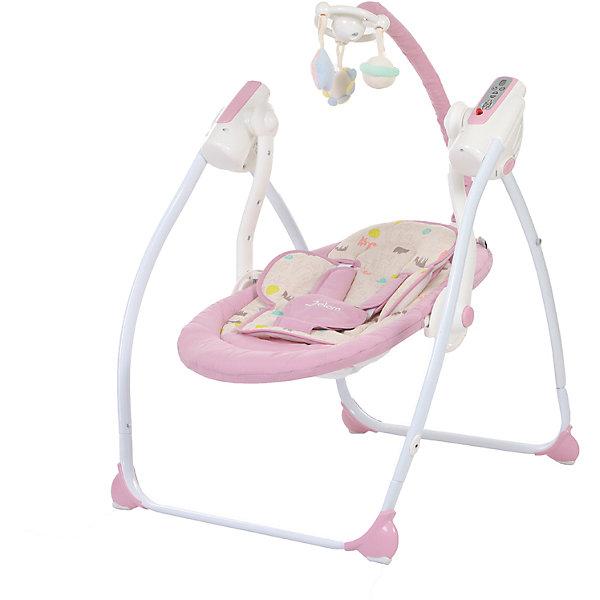 Электрокачели Breeze с адаптером, Jetem, светло-фиолетовыйДетские качели для дома<br>Характеристики товара:<br><br>• возраст с рождения до 6 месяцев;<br>• максимальный вес ребёнка: 11 кг<br>• материал: алюминий, пластик, резина, текстиль<br>• наклон спинки в 2 положениях, включая лежачее;<br>• электронный блок с 9-ю мелодиями;<br>• индикатор заряда батареи<br>• дуга с подвесными игрушками;<br>• таймер на 10, 20 и 30 минут;<br>• индикатор уровня батареи;<br>• пульт управления работает от 4 батареек тип С (в комплект не входят);<br>• 5-ти точечные ремни безопасности;<br>• съемный чехол сидения<br>• аллюминиевый каркас оснащён резиновыми накладками<br><br>Электрокачели Jetem Breeze помогут убаюкать малыша. 9 колыбельных мелодий в памяти успокоят кроху. Дуга с игрушками станет для него отличным развлечением, он сможет наблюдать за игрушками, рассматривать, хватать их. Электронный блок управляется пультом дистанционного управления. Рама изготовлена из прочного облегченного алюминия. На ножках имеются резиновые накладки, не повреждающие напольное покрытие. Качели легко и компактно складываются для хранения дома или транспортировки. <br><br>Размер в разложенном виде 105х65х70 см<br>Размер в сложенном виде 105х65х25 см<br>Расстояние от пола до сидения 20 см<br>Размеры сидения 70х40 см<br>Вес электрокачелей 4,9 кг<br>Размер упаковки 72х41х17 см<br>Вес упаковки 6 кг<br><br>Комплектация:<br><br>• качели;<br>• дуга с игрушками;<br>• электронный блок;<br>• пульт ДУ;<br>• сетевой адаптер.<br><br>Электрокачели Jetem Breeze с адаптером фиолетовые можно приобрести в нашем интернет-магазине.<br><br>Ширина мм: 720<br>Глубина мм: 410<br>Высота мм: 160<br>Вес г: 6000<br>Возраст от месяцев: 3<br>Возраст до месяцев: 6<br>Пол: Унисекс<br>Возраст: Детский<br>SKU: 5493370