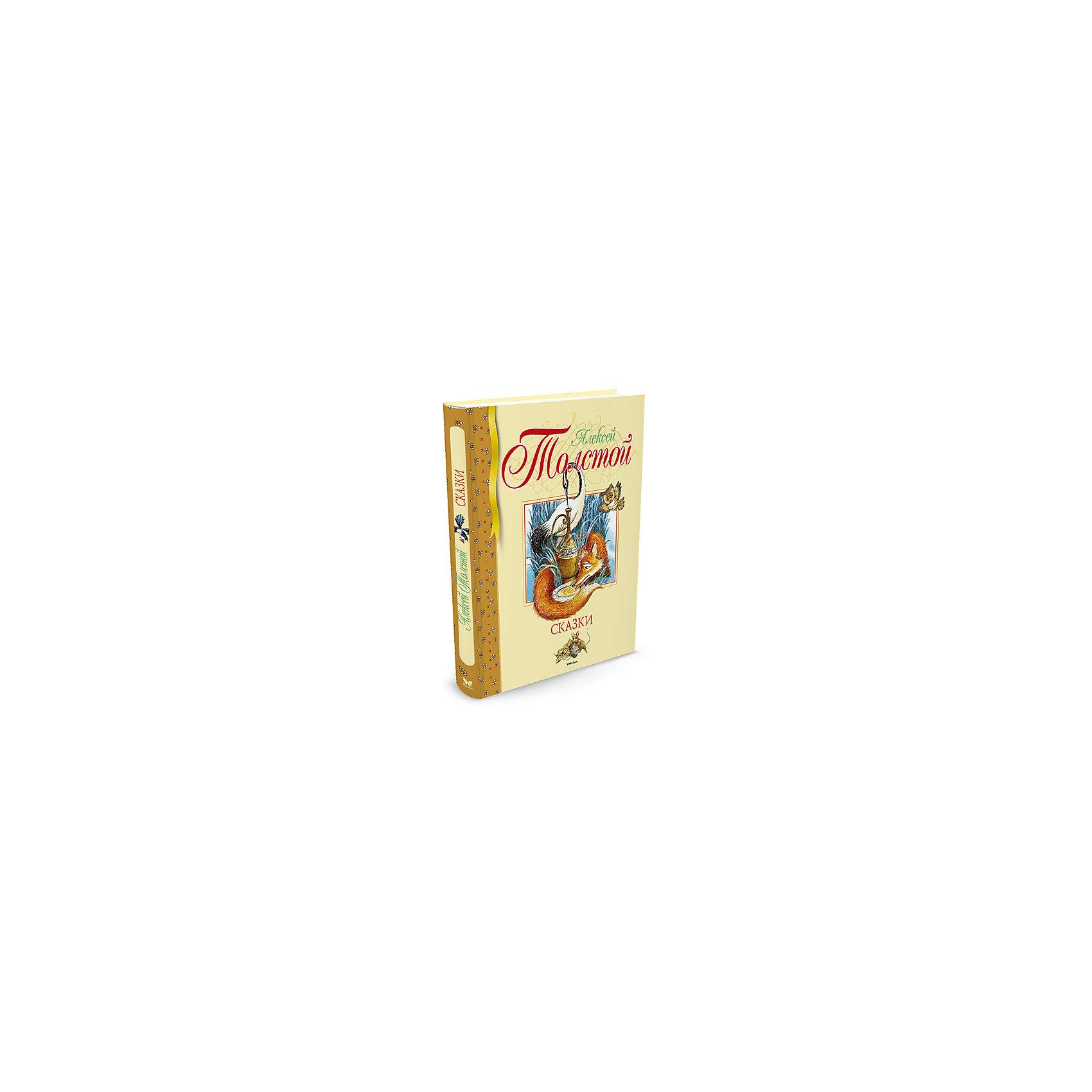 Сказки. А. Толстой, MACHAONРусские сказки<br>Сказки. А. Толстой.<br><br>Характеристики:<br><br>• Автор: Алексей Толстой<br>• Художник: Е. Белоусова<br>• Издательство: Махаон, 2016 год<br>• Серия: Библиотека детской классики<br>• Тип обложки: 7Б - твердая (плотная бумага или картон)<br>• Иллюстрации: цветные<br>• Количество страниц: 80<br>• Размер: 242x201х10 мм.<br>• Вес: 327 гр.<br>• ISBN: 9785389120266<br><br>Книга Толстой А. К. - это сборник разных сказок, в которых главными героями являются простые люди. Кроме того, в них встречаются такие мистические существа, как водяные, русалочки, лешие и прочие представители нечисти. Литературно-художественное издание для младшего школьного возраста.<br><br>Книгу Сказки. А. Толстой можно купить в нашем интернет-магазине.<br><br>Ширина мм: 242<br>Глубина мм: 201<br>Высота мм: 100<br>Вес г: 327<br>Возраст от месяцев: 84<br>Возраст до месяцев: 120<br>Пол: Унисекс<br>Возраст: Детский<br>SKU: 5493502