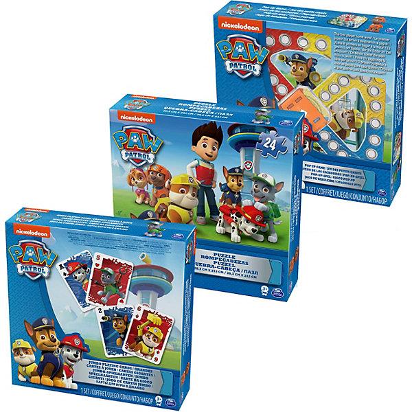 Игра с кубиком и фишками, Щенячий Патруль, Spin MasterНастольные игры ходилки<br>Характеристики:<br><br>• Количество игроков: от 2-х человек<br>• Материал: картон, бумага, пластик<br>• Комплектация: игровое поле, фишки, игральный кубик, инструкция, коробка<br>• Количество вариантов игр: 1<br>• Вес в упаковке: 625 г<br>• Размеры упаковки (Г*Ш*В): 61*21*5 см<br>• Упаковка: картонная коробка <br><br>Игра с кубиком и фишками, Щенячий Патруль, Spin Master – это комплект для настольной игры, выполненный по мотивам одноименного мультсериала для детей. Набор включает в себя игровое поле, фишки и кубик. Игровое поле состоит из пяти разноцветных секторов: четыре для игроков, одно – общее, представляющее собой финиш. Задача игроков заключается в том, чтобы как можно быстрее переместить фишки своего цвета в центральное поле.<br> <br>Игру с кубиком и фишками, Щенячий Патруль, Spin Master можно купить в нашем интернет-магазине.<br><br>Ширина мм: 610<br>Глубина мм: 210<br>Высота мм: 50<br>Вес г: 625<br>Возраст от месяцев: 48<br>Возраст до месяцев: 2147483647<br>Пол: Унисекс<br>Возраст: Детский<br>SKU: 5493554