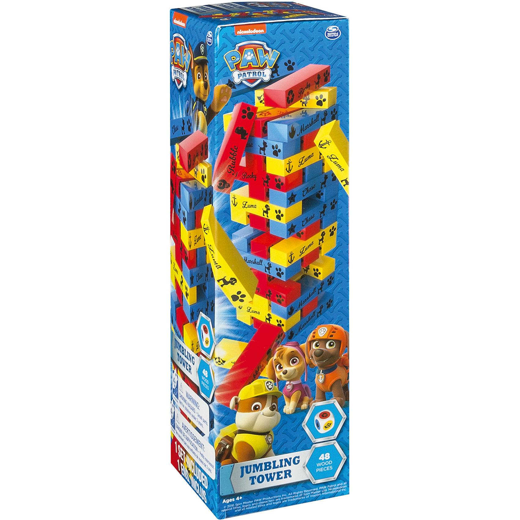 Игра Построй башню, Щенячий Патруль, Spin MasterРазвивающие игры<br>Характеристики:<br><br>• Количество игроков: от 2-х человек<br>• Материал: дерево<br>• Комплектация: 48 цветных брусочков, игральный кубик, инструкция, коробка<br>• Количество вариантов игр: 1<br>• Вес в упаковке: 726 г<br>• Размеры упаковки (Г*Ш*В): 8*28*8 см<br>• Упаковка: картонная коробка <br><br>Игра Построй башню, Щенячий Патруль, Spin Master – это комплект для настольной игры, выполненный по мотивам одноименного мультсериала для детей. Набор включает в себя ц8 деревянных брусочков и кубик с разноцветными гранями. Задача игроков заключается в том, чтобы как можно дольше продержаться в игре, не разрушив при вынимании брусочек. Очередность хода игрока определяется путем бросания кубика: какой цвет выпадет – тому игроку и ходить.<br> <br>Игру Построй башню, Щенячий Патруль, Spin Master можно купить в нашем интернет-магазине.<br><br>Ширина мм: 80<br>Глубина мм: 280<br>Высота мм: 80<br>Вес г: 726<br>Возраст от месяцев: 48<br>Возраст до месяцев: 2147483647<br>Пол: Унисекс<br>Возраст: Детский<br>SKU: 5493555