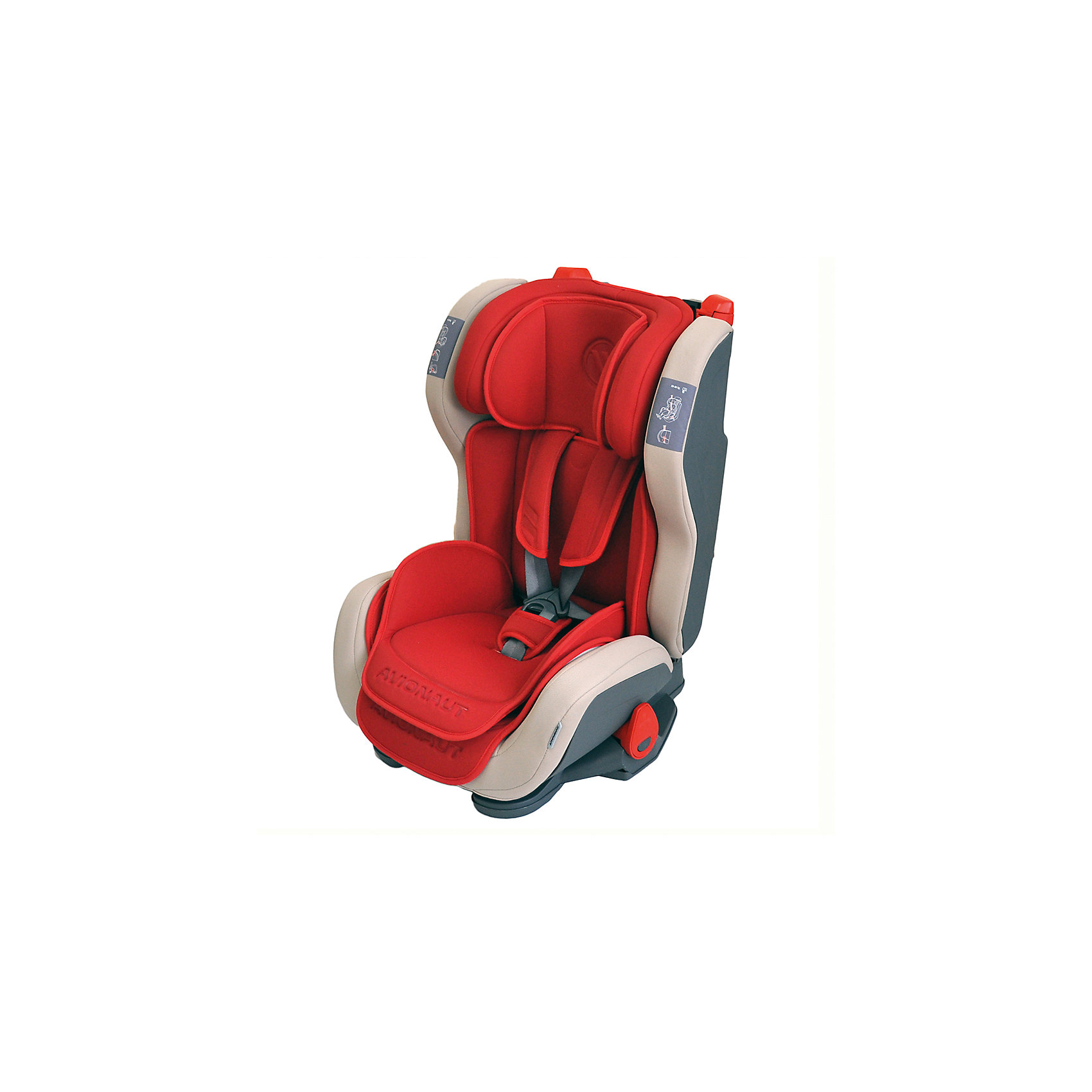 Автокресло Avionaut EVOLVAIR, 9-36кг, красныйГруппа 1-2-3 (От 9 до 36 кг)<br>Характеристики товара:<br><br>• группа автокресла: 1-2-3;<br>• возраст: от 9 месяцев до 12 лет;<br>• вес ребенка: 9-36 кг;<br>• материал: пластик, полиэстер;<br>• 5-ти точечные ремни безопасности;<br>• регулировка наклона спинки;<br>• регулировка подголовника;<br>• установка автокресла: по ходу движения;<br>• способ крепления: штатными ремнями автомобиля;<br>• размер автокресла: 46х59х50 см;<br>• вес автокресла: 8,2 кг;<br>• размер упаковки: 47х69х69 см;<br>• вес упаковки: 9,5 кг;<br>• страна производитель: Польша.<br><br>Автокресло Avionaut Evolvair красное обеспечивает надежную защиту малыша при перевозке в автомобиле. Оно устанавливается на пассажирском сидении при помощи штатных ремней. Каркас сделан из ударопрочного пластика, а специальный наполнитель поглощает основной удар, защищая ребенка от травм.<br><br>Внутри сидения имеется цветной вкладыш и мягкий подголовник с поддержкой головы. Регулируемый по высоте подголовник и боковины по ширине позволяют использовать кресло не один год и подгонять его под растущего ребенка. Спинку можно опустить рычагом, чтобы малыш в поездке могу отдохнуть и поспать.<br><br>Автокресло Avionaut Evolvair красное можно приобрести в нашем интернет-магазине.<br><br>Ширина мм: 470<br>Глубина мм: 690<br>Высота мм: 690<br>Вес г: 8200<br>Возраст от месяцев: -2147483648<br>Возраст до месяцев: 2147483647<br>Пол: Унисекс<br>Возраст: Детский<br>SKU: 5500146