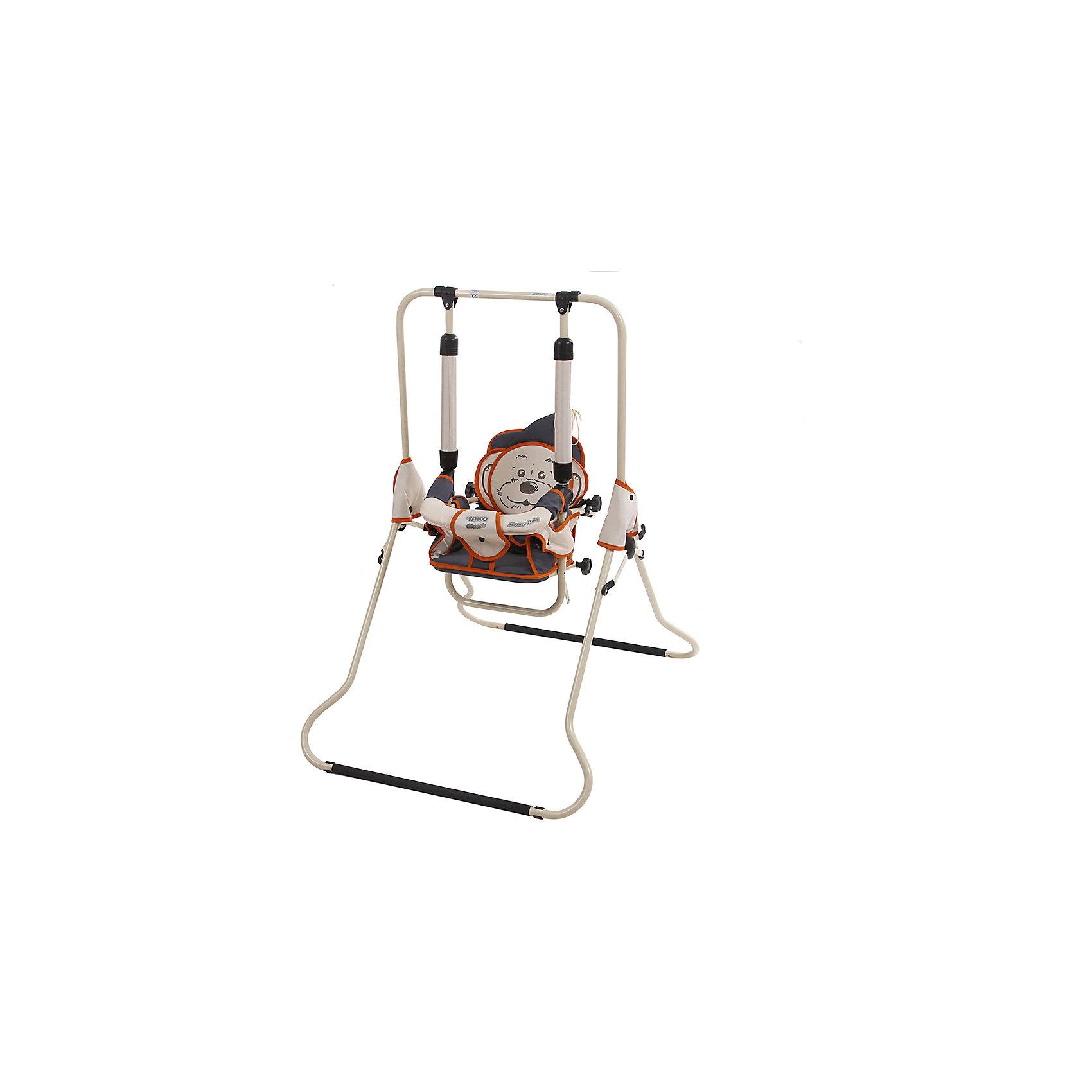 Качели напольные CLASSIC 06, ТАКО, бежевый/оранжевым/серыйКачели напольные и подвесные<br>ТАКО HBU Качели CLASSIC 06 напольные со съёмным поручнем беж с оранжевым или серым кантиком<br><br>Ширина мм: 760<br>Глубина мм: 1280<br>Высота мм: 200<br>Вес г: 7100<br>Возраст от месяцев: -2147483648<br>Возраст до месяцев: 2147483647<br>Пол: Унисекс<br>Возраст: Детский<br>SKU: 5500164