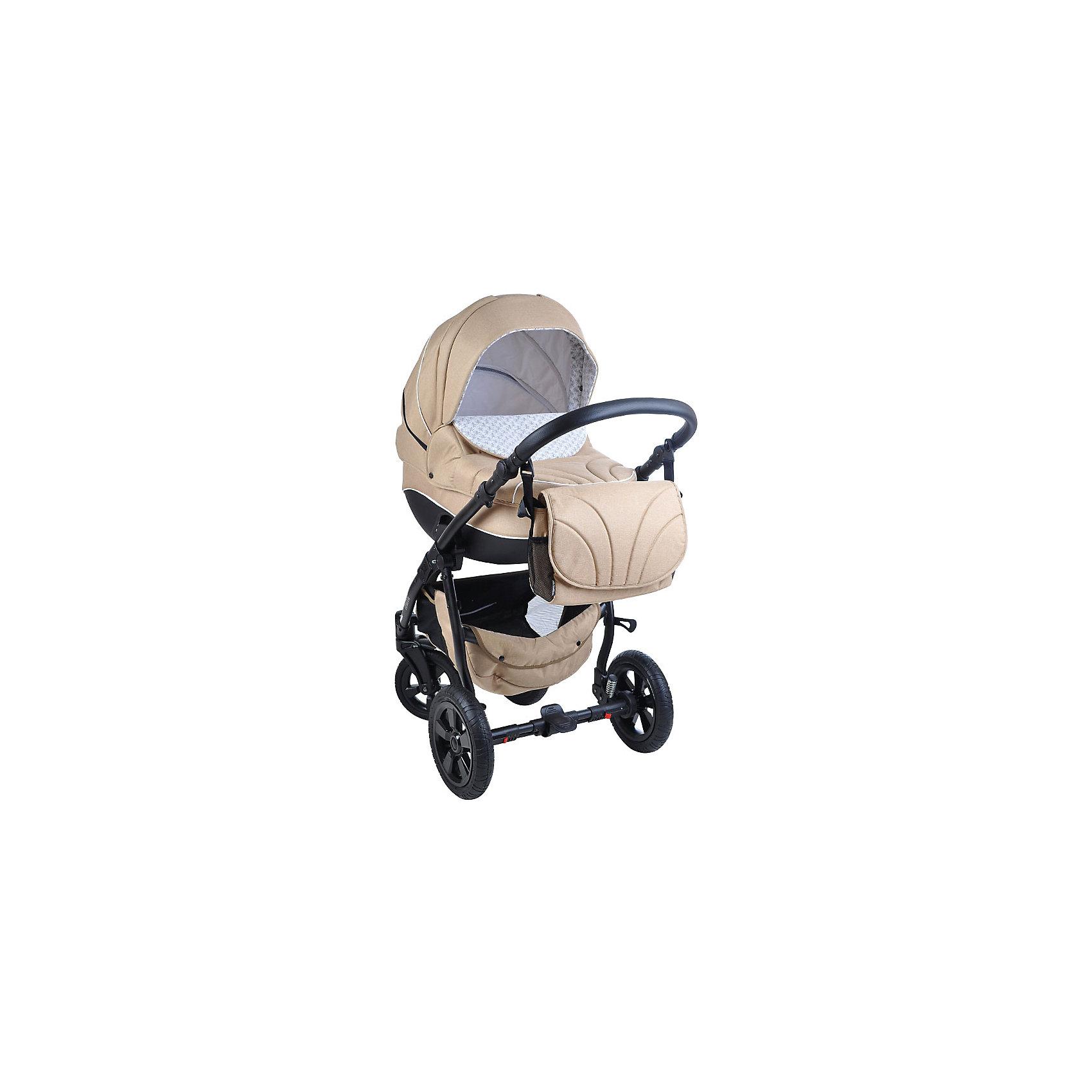 Коляска 2 в 1 Tutis MIMI, бежевый лен/серыйКоляски 2 в 1<br>Характеристики коляски Tutis Mimi:<br><br>Люлька:<br><br>• возраст: с рождения;<br>• прочный пластиковый корпус;<br>• складной капюшон с сетчатым окошком для вентиляции воздуха;<br>• матрас из кокосового волокна, известного своими антибактериальными свойствами;<br>• регулируемый подголовник;<br>• дно с вентиляционными отверстиями;<br>• резиновая накладка на дне для бесшумного укачивания;<br>• встроенная в капюшон ручка для переноски;<br>• внутренние размеры люльки: 80х36 см;<br>• вес люльки: 4,3 кг.<br><br>Прогулочный блок:<br><br>• возраст: от 6 месяцев;<br>• регулировка наклона спинки до горизонтального положения;<br>• регулируемая подножка;<br>• 5-ти точечные ремни безопасности;<br>• съемный бампер с разделителем между ножек, обтянутый тканью;<br>• капюшон из непромокаемой ткани с козырьком и сетчатой вставкой;<br>• реверсивный прогулочный блок;<br>• спальное место: 95х39 см;<br>• вес прогулочного блока: 4,8 кг.<br><br>Шасси коляски:<br><br>• алюминиевая рама;<br>• регулируемая по высоте ручка;<br>• тип складывания: книжка;<br>• тип колес: надувные;<br>• передние поворотные колеса с фиксацией;<br>• мягкая подвеска с функцией поглощения ударов;<br>• стояночный тормоз-педаль;<br>• вес шасси: 8,45 кг.<br><br>Размер коляски в сложенном виде: 89х60х38 см;<br>Размер упаковки 92х59х50 см;<br>Вес упаковки: 19,65 кг.<br><br>Комплектация:<br><br>• люлька;<br>• прогулочный блок;<br>• шасси;<br>• москитная сетка;<br>• дождевик;<br>• накидка на ножки;<br>• сумка для мамы.<br><br>Коляску 2 в 1 Tutis Mimi бежевый лен/серый можно приобрести в нашем интернет-магазине.<br><br>Ширина мм: 920<br>Глубина мм: 590<br>Высота мм: 500<br>Вес г: 19650<br>Возраст от месяцев: -2147483648<br>Возраст до месяцев: 2147483647<br>Пол: Унисекс<br>Возраст: Детский<br>SKU: 5500176