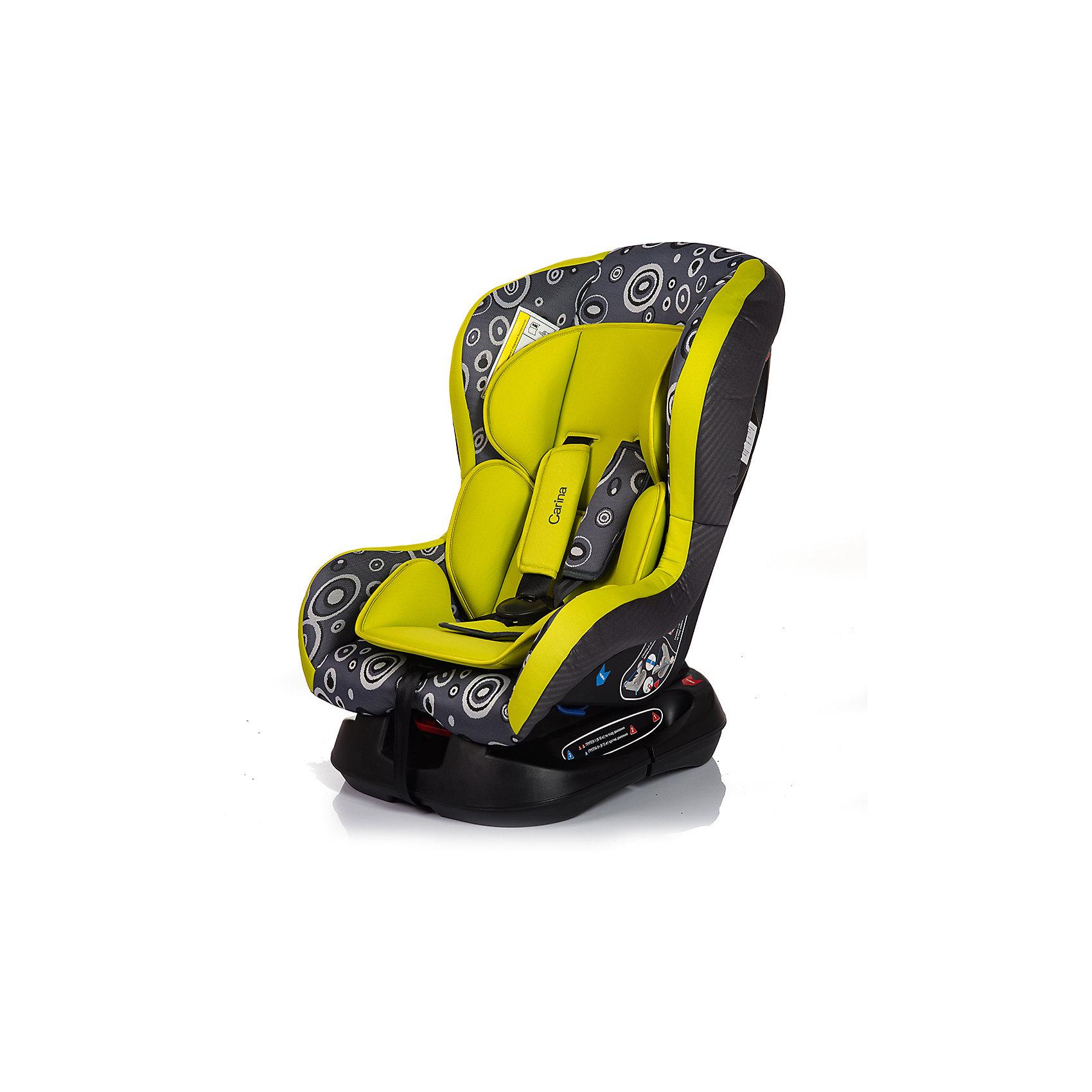 Автокресло CARINA 0-18 кг., Babyhit, зелёно-серыйГруппа 0+/1, для детей весом до 18кг.,Автокресло CARINA - яркое и красивое, и при этом отлично справляется со своей главной задачей - защитой малыша в машине. Крепкая основа и защита головы позволяет с комфортом разместить малыша в автокресле, позаботившись о правильном положении спинки. Чехол легко снимать и стирать, поэтому автокресло легко содержать в чистоте.несколько положений спинки (до полулежа), съемный чехол, мягкий матрасик, 5-ти точечные ремни безопасности с удерживающей системой, препятствующей их соскальзывание с плеч ребёнка,При весе ребенка от 9 до 18 кг. используется лицевой стороной по ходу движения автомобиля; при весе ребенка от 0 до 13 кг. используется спиной к движению автомобиля. соответствует Евростандарту безопасности ЕСЕ44/3<br><br>Ширина мм: 600<br>Глубина мм: 450<br>Высота мм: 820<br>Вес г: 7500<br>Возраст от месяцев: 0<br>Возраст до месяцев: 48<br>Пол: Унисекс<br>Возраст: Детский<br>SKU: 5500251