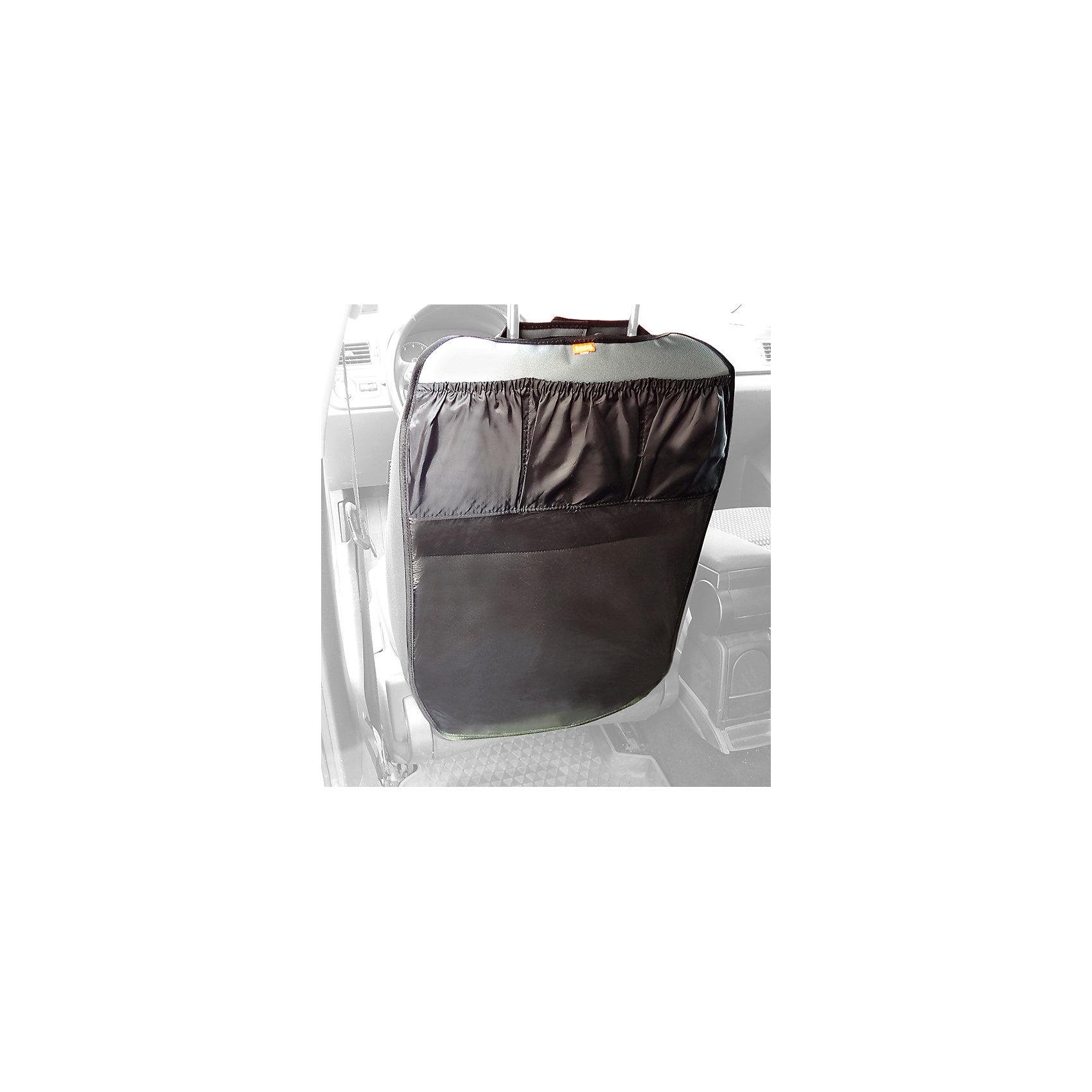Защитная накидка на спинку автомобильного сиденья с карманами, ВитошаАксессуары<br>Характеристики:<br><br>• резинки-держатели, липучки;<br>• наличие карманов, 3 шт.;<br>• материал: прозрачная пленка ПВХ, карман - 100% полиэстер;<br>• размер накидки: 40х60 см;<br>• размер упаковки: 25х16,5х1 см;<br>• вес накидки: 50 г;<br>• вес в упаковке: 200 г.<br><br>Защитная накидка быстро и легко крепится на автомобильное сиденье. За накидкой легко ухаживать, аксессуар отмывается без труда. Накладка подходит для всех типов кресел со съемным подголовником.  <br><br>Защитную накидку на спинку автомобильного сиденья с карманами, Витоша можно купить в нашем интернет-магазине.<br><br>Ширина мм: 250<br>Глубина мм: 165<br>Высота мм: 10<br>Вес г: 200<br>Возраст от месяцев: 0<br>Возраст до месяцев: 36<br>Пол: Унисекс<br>Возраст: Детский<br>SKU: 5500272
