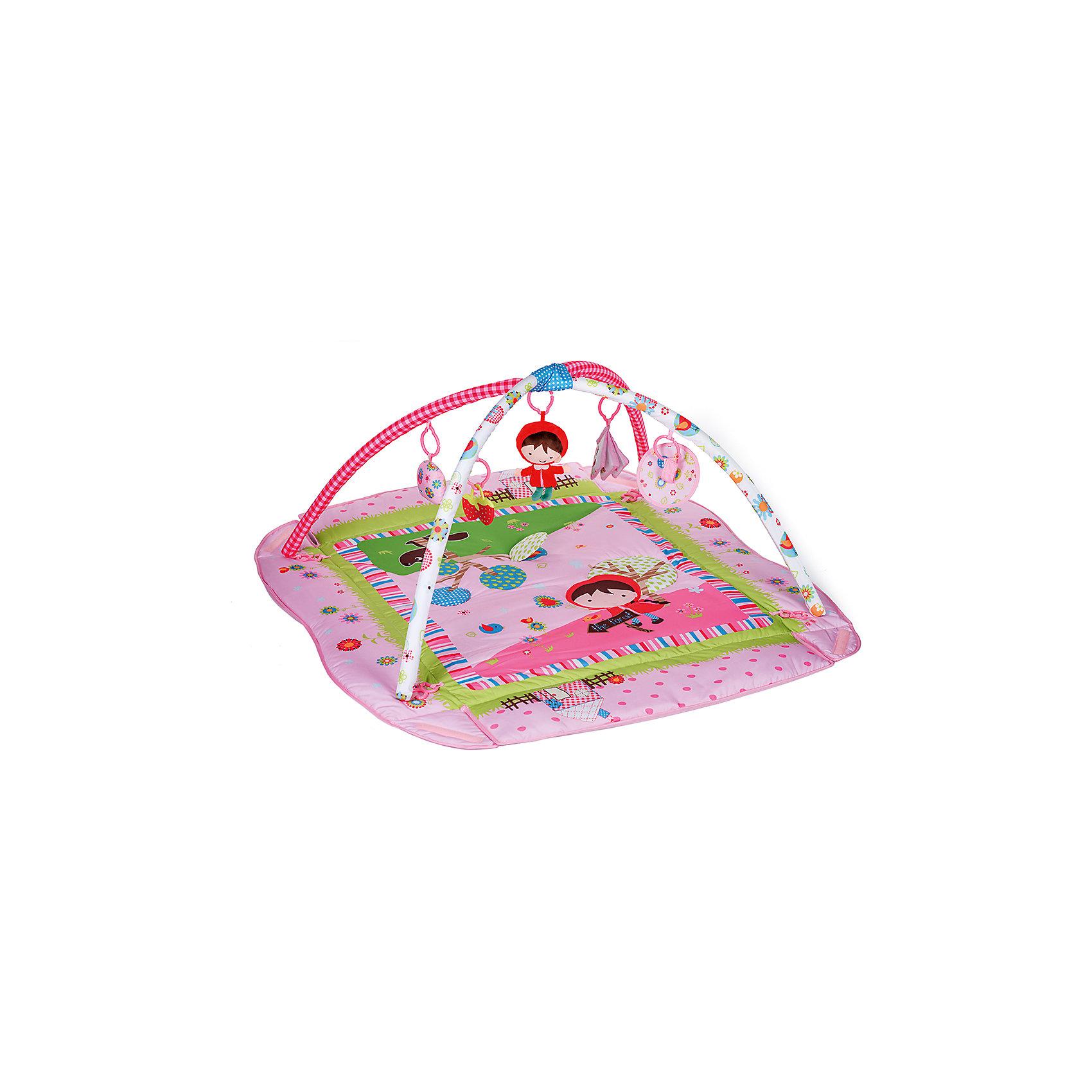 Коврик PM-04, Babyhit, Красная шапочкаРазвивающие коврики<br>Характеристики:<br><br>• игровой коврик для ребенка;<br>• съемные дуги с петельками для подвешивания развивающих игрушек;<br>• наличие бортиков;<br>• подвесные игрушки: безопасное зеркальце, прорезыватель-клубничка, мягкая музыкальная игрушка Красная шапочка, книжка-игрушка с шуршащими страничками, погремушка;<br>• материал: текстиль, плюш, пластик;<br>• размер коврика: 115х100х46 см;<br>• размер упаковки: 95х75х55 см;<br>• вес в упаковке: 2,073 кг.<br><br>Игровой коврик с бортиком и дугами для подвесных игрушек оказывает благотворное влияние на развитие малыша с первых дней его жизни. Коврик используется для игры дома, на даче, на лужайке. Мягкое стеганое покрытие коврика дает возможность развить у ребенка тактильное восприятие, игра с развивающими игрушками поможет познать звуковые и зрительные образы. Музыкальная игрушка, погремушка и прорезыватель включены в комплект поставки. Пластиковые карабины предназначены как для игрушек, входящих в комплект, так и для других подвесных игрушек, подвесок и модулей.  <br><br>Коврик PM-04, Babyhit, Красная шапочка можно купить в нашем интернет-магазине.<br><br>Ширина мм: 950<br>Глубина мм: 750<br>Высота мм: 550<br>Вес г: 2073<br>Возраст от месяцев: 0<br>Возраст до месяцев: 6<br>Пол: Унисекс<br>Возраст: Детский<br>SKU: 5500275