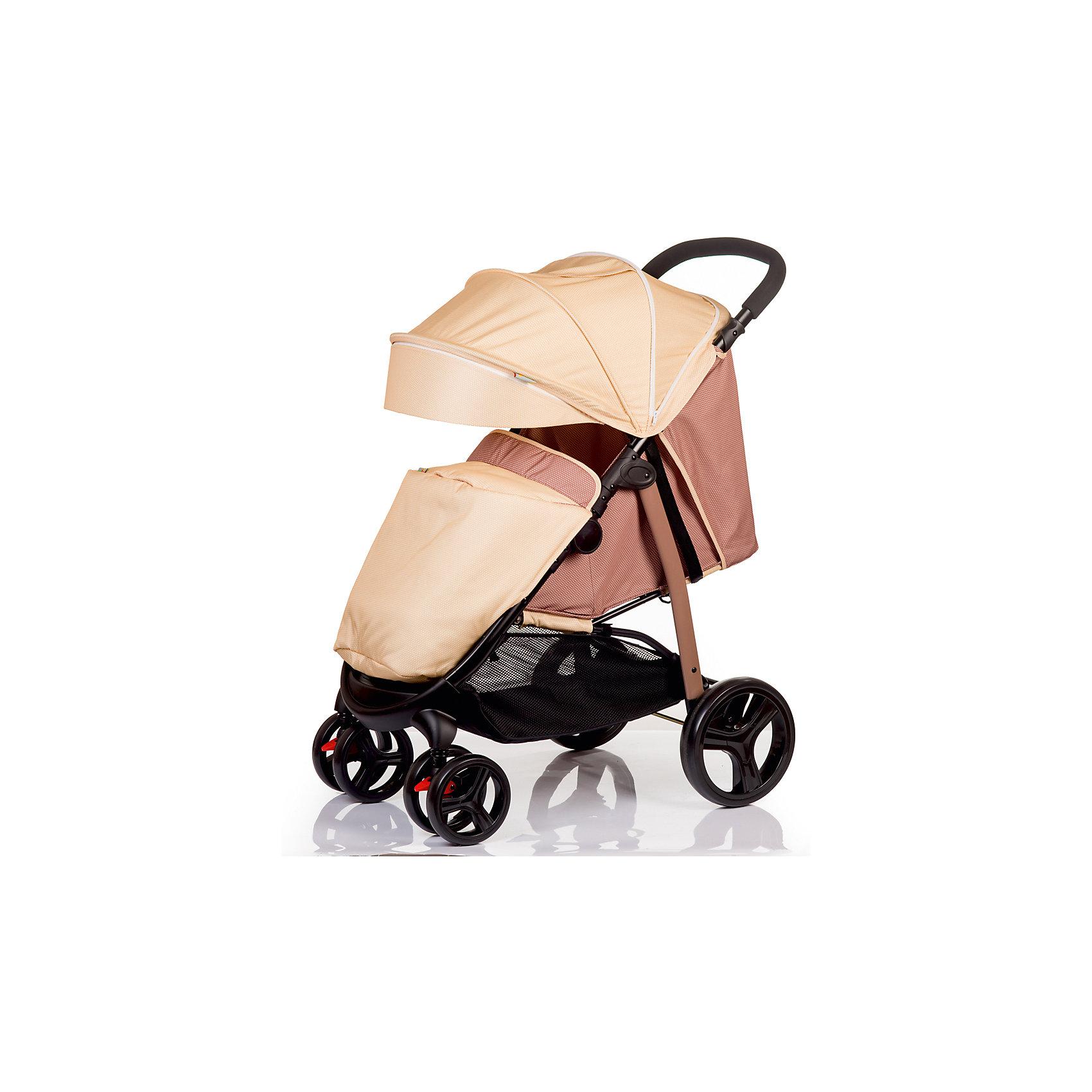Прогулочная коляска BabyHit RACY, бежевыйПрогулочные коляски<br>Характеристики коляски<br><br>Прогулочный блок:<br><br>• горизонтальное положение спинки, угол наклона 170 градусов;<br>• подножка регулируется и удлиняет спальное место;<br>• имеется анатомический вкладыш с мягким подголовником;<br>• 5-ти точечные ремни безопасности;<br>• съемный защитный бампер с паховым ограничителем;<br>• капюшон-батискаф, опускается до бамера;<br>• калюшон оснащен солнцезащитным козырьком, смотровым окошком под клапаном и кармашком на липучке;<br>• пластиковая подножка для подросшего малыша;<br>• в комплект входит чехол на ножки и москитная сетка;<br>• материал: пластик, полиэстер;<br>• длина спального места: 75 см;<br>• ширина сиденья: 34 см<br>• высота спинки: 40 см;<br>• глубина сиденья: 22 см.<br><br>Рама коляски:<br><br>• коляска складывается вместе с прогулочным блоком по типу книжки;<br>• имеется корзина для покупок;<br>• плавающие передние колеса с фиксаторами;<br>• диаметр колес: 16,8 см, 24,8 см;<br>• материал колес: псевдорезина;<br>• материал рамы: алюминий.<br><br>Размер коляски: 85х58х105 см<br>Размер коляски в сложенном виде: 88х58х35 см<br>Вес коляски: 9,2 кг<br>Размер упаковки: 78х45х27 см<br>Вес в упаковке: 10 кг<br><br>Прогулочную коляску RACY, Babyhit, бежевую можно купить в нашем интернет-магазине.<br><br>Ширина мм: 450<br>Глубина мм: 270<br>Высота мм: 780<br>Вес г: 10000<br>Возраст от месяцев: 7<br>Возраст до месяцев: 36<br>Пол: Унисекс<br>Возраст: Детский<br>SKU: 5500306