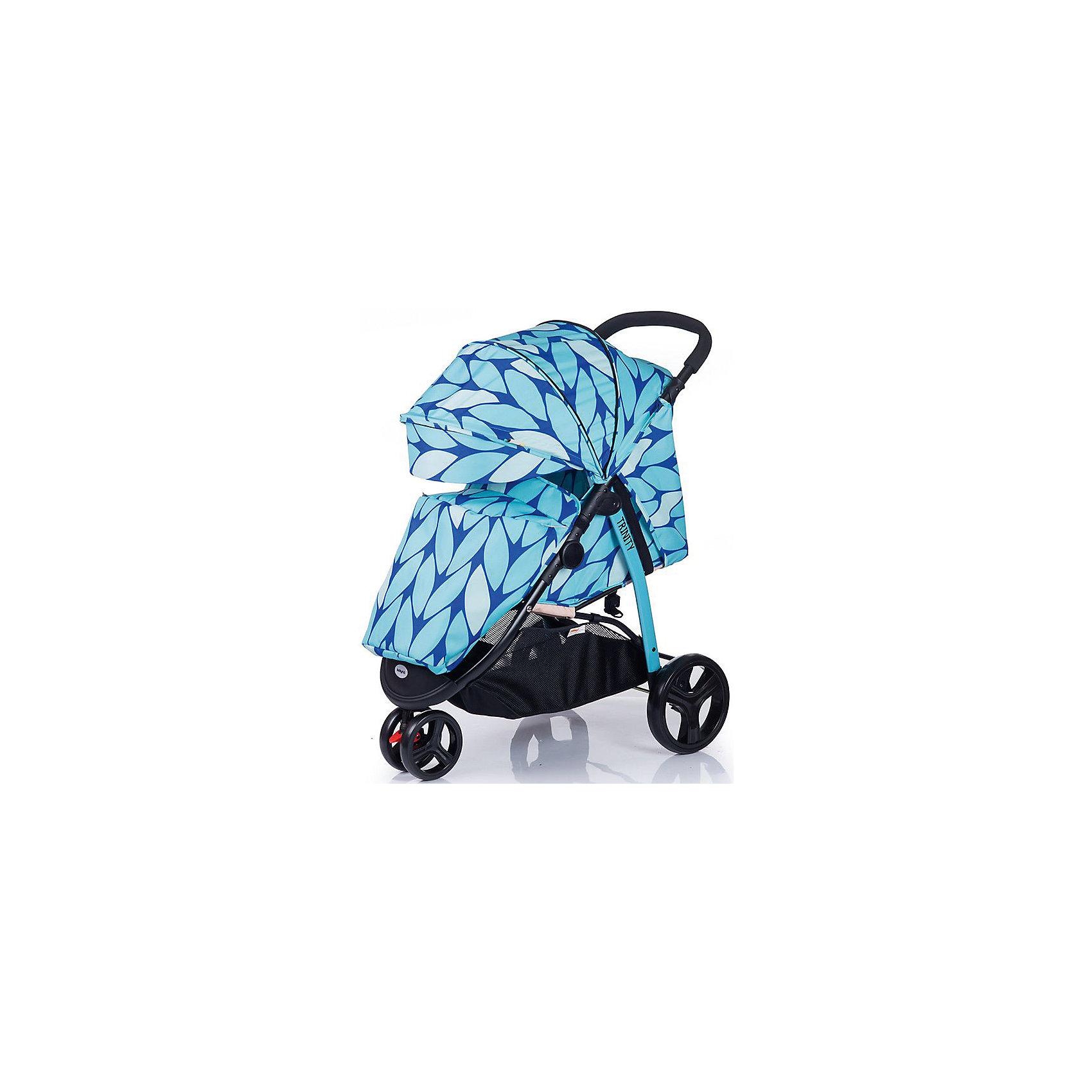 Прогулочная коляска BabyHit Trinity, голубой/синийНедорогие коляски<br>Характеристики коляски<br><br>Прогулочный блок:<br><br>• горизонтальное положение спинки, угол наклона 165 градусов;<br>• подножка регулируется и удлиняет спальное место;<br>• 5-ти точечные ремни безопасности;<br>• съемный защитный бампер с паховым ограничителем;<br>• капюшон-батискаф, опускается до бамера;<br>• калюшон оснащен солнцезащитным козырьком, смотровым окошком под клапаном и кармашком на липучке;<br>• пластиковая подножка для подросшего малыша;<br>• в комплект входит чехол на ножки и москитная сетка;<br>• материал: пластик, полиэстер;<br>• длина спального места: 75 см;<br>• ширина сиденья: 34 см<br>• высота спинки: 40 см;<br>• глубина сиденья: 22 см.<br><br>Рама коляски:<br><br>• коляска складывается вместе с прогулочным блоком по типу книжки;<br>• имеется корзина для покупок;<br>• 3-х колесная коляска;<br>• плавающее переднее колесо с фиксаторами;<br>• диаметр колес: 16,8 см, 24,8 см;<br>• материал колес: псевдорезина;<br>• материал рамы: алюминий.<br><br>Размер коляски: 85х58х105 см<br>Размер коляски в сложенном виде: 88х58х35 см<br>Вес коляски: 8,6 кг<br>Размер упаковки: 78х45х27,5 см<br>Вес в упаковке: 10 кг<br><br>Прогулочную коляску TRINITY, Babyhit, бежевую с коричневым можно купить в нашем интернет-магазине.<br><br>Ширина мм: 450<br>Глубина мм: 275<br>Высота мм: 780<br>Вес г: 10000<br>Возраст от месяцев: 7<br>Возраст до месяцев: 36<br>Пол: Унисекс<br>Возраст: Детский<br>SKU: 5500310