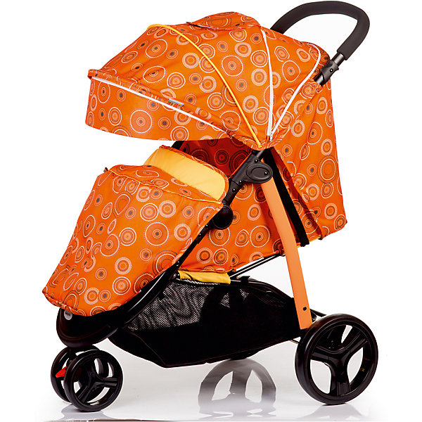 Купить со скидкой Прогулочная коляска BabyHit Trinity, оранжевая с полосками
