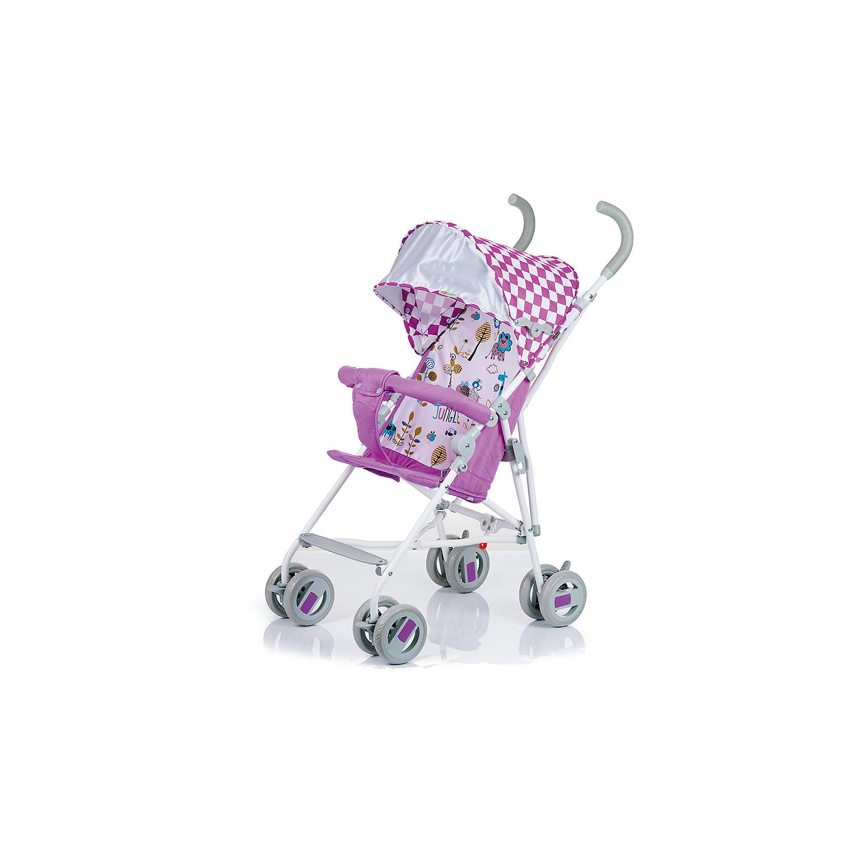 Коляска-трость BabyHit WEENY, бело-розовыйКоляски-трости<br>Характеристики коляски:<br><br>• защитный бампер с мягким разделителем;<br>• защитный поясной ремень;<br>• капюшон оснащен широким солнцезащитным козырьком;<br>• малыш может поставить ножки на пластиковую подножку;<br>• сдвоенные колеса на передней и задней оси;<br>• передние «плавающие» колеса с фиксаторами;<br>• ножной тормоз;<br>• высота спинки: 46 см;<br>• диаметр колес: 12,7 см;<br>• тип складывания коляски: трость.<br><br>Обратите внимание: <br>• спинка и подножка коляски не регулируется;<br>• коляска без корзины для покупок.<br><br>Размер коляски: 75х45х93 см<br>Вес коляски: 4,1 кг<br>Размер коляски в сложенном виде: 109х29,5х27,5 см<br>Размер упаковки: 105х41х29 см<br>Вес в упаковке: 4,5 кг<br><br>Легкая и маневренная коляска-трость отлично подходит для путешествий с маленьким ребенком, не занимает много места в багажнике автомобиля, быстро складывается и раскладывается. Ребенок не соскользнет вниз благодаря защитному поручню с паховым ограничителем. Сдвоенные колеса можно зафиксировать, когда коляска едет по песку или гальке. Коляска оснащена тормозами на задних колесах. <br><br>Коляску-трость WEENY, Babyhit, бело-розовую можно купить в нашем интернет-магазине.<br><br>Ширина мм: 1050<br>Глубина мм: 290<br>Высота мм: 410<br>Вес г: 4625<br>Возраст от месяцев: 7<br>Возраст до месяцев: 36<br>Пол: Унисекс<br>Возраст: Детский<br>SKU: 5500322