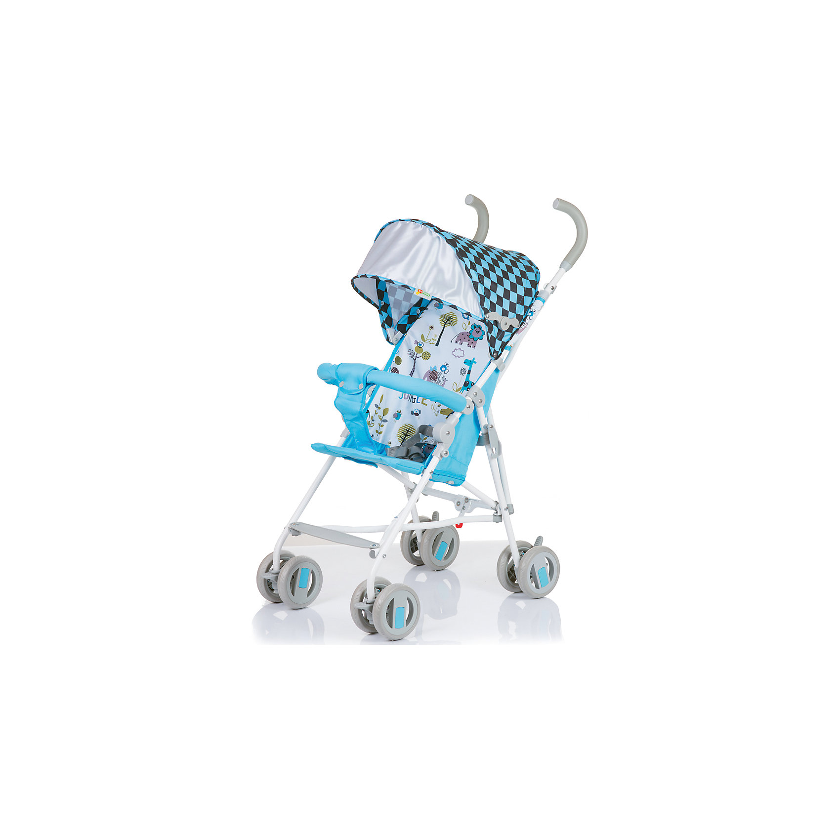 Коляска-трость BabyHit WEENY, бело-голубойНедорогие коляски<br>Характеристики коляски:<br><br>• защитный бампер с мягким разделителем;<br>• защитный поясной ремень;<br>• капюшон оснащен широким солнцезащитным козырьком;<br>• малыш может поставить ножки на пластиковую подножку;<br>• сдвоенные колеса на передней и задней оси;<br>• передние «плавающие» колеса с фиксаторами;<br>• ножной тормоз;<br>• высота спинки: 46 см;<br>• диаметр колес: 12,7 см;<br>• тип складывания коляски: трость.<br><br>Обратите внимание: <br>• спинка и подножка коляски не регулируется;<br>• коляска без корзины для покупок.<br><br>Размер коляски: 75х45х93 см<br>Вес коляски: 4,1 кг<br>Размер коляски в сложенном виде: 105х41х29 см<br>Размер упаковки: 105х41х29 см<br>Вес в упаковке: 4,6 кг<br><br>Легкая и маневренная коляска-трость отлично подходит для путешествий с маленьким ребенком, не занимает много места в багажнике автомобиля, быстро складывается и раскладывается. Ребенок не соскользнет вниз благодаря защитному поручню с паховым ограничителем. Сдвоенные колеса можно зафиксировать, когда коляска едет по песку или гальке. Коляска оснащена тормозами на задних колесах. <br><br>Коляску-трость WEENY, Babyhit, бело-голубую можно купить в нашем интернет-магазине.<br><br>Ширина мм: 1050<br>Глубина мм: 290<br>Высота мм: 410<br>Вес г: 4625<br>Возраст от месяцев: 7<br>Возраст до месяцев: 36<br>Пол: Унисекс<br>Возраст: Детский<br>SKU: 5500323