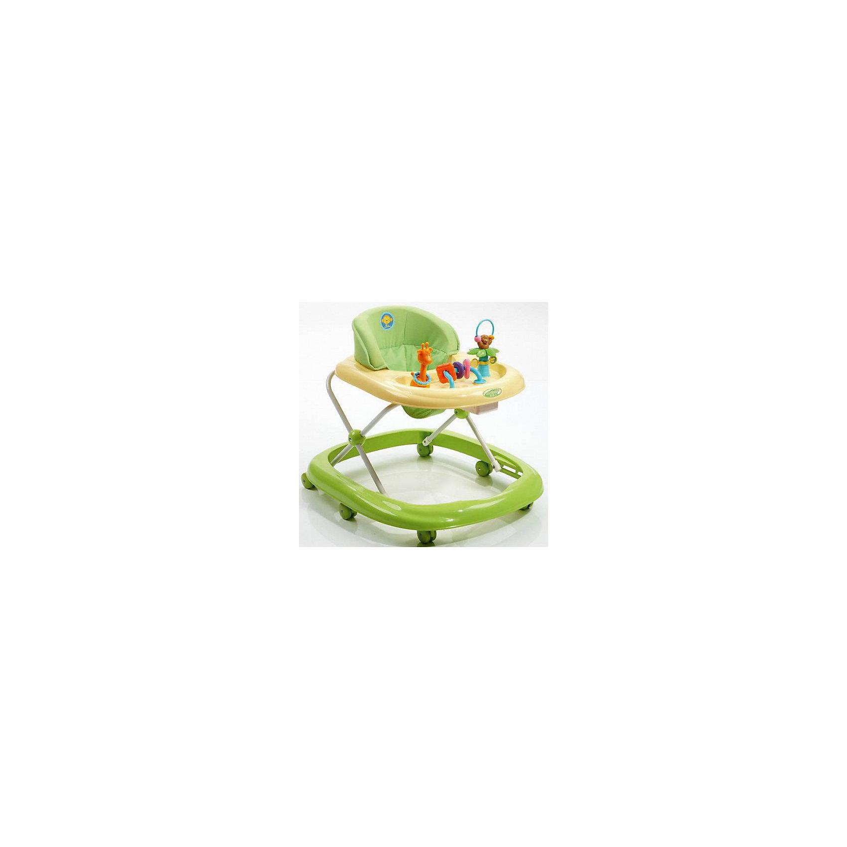 Ходунки 05XB109, Geoby, зелёный с жёлтымХодунки XB 109 – яркая и надежная модель, которая родителям понравится своей устойчивостью, качеством и доступной ценой, а малышу подвижностью и внушительным набором игрушек на столешнице. Удобное сидение и мягкая подкладка на жесткой основе делает положение крохи в ходунках максимально комфортным и естественным. Яркие краски и обтекаемые плавные формы делают дизайн свежим и приятным для глаз. К тому же для крохи развивающие игрушки на столешнице помогут развить внимание и тактильное восприятие малыша.<br><br>Ширина мм: 715<br>Глубина мм: 140<br>Высота мм: 635<br>Вес г: 4300<br>Возраст от месяцев: 6<br>Возраст до месяцев: 18<br>Пол: Унисекс<br>Возраст: Детский<br>SKU: 5500338