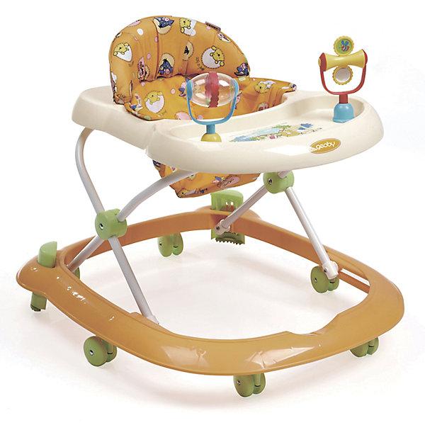 Ходунки 05XB117, Geoby, оранжевый с белымХодунки<br>Характеристики:<br><br>• устойчивость конструкции;<br>• 3 положения по высоте; <br>• сиденье эргономичной формы, наличие спинки;<br>• мягкая подкладка, съемный чехол;<br>• съемное моющееся сиденье;<br>• игровая панель с развивающими игрушками;<br>• поворотные сдвоенные колесики с возможностью фиксации;<br>• допустимая нагрузка: 12 кг;<br>• размер ходунков: 69х60х53 см;<br>• размер упаковки: 64х11,5х57,5 см;<br>• вес: 3,5 кг.<br><br>Устойчивые ходунки на колесиках позволяют ребенку без труда перемещаться по дому, исследовать окружающий мир. Свобода действия и двигательная активность поможет развить координацию, ориентир в пространстве, стремление к преодолению препятствий. <br><br>Ходунки 05XB117, Geoby, цвет оранжевый с белым можно купить в нашем интернет-магазине.<br><br>Ширина мм: 640<br>Глубина мм: 115<br>Высота мм: 575<br>Вес г: 3500<br>Возраст от месяцев: 6<br>Возраст до месяцев: 18<br>Пол: Унисекс<br>Возраст: Детский<br>SKU: 5500339