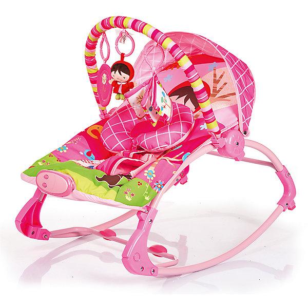 Шезлонг RK-02, Babyhit, Красная шапочкаДетские шезлонги<br>Характеристики:<br><br>• шезлонг оснащен полользями для качания;<br>• шезлонг трансформируется в кресло-качалку;<br>• наклон спинки регулируется, 3 положения: полусидя, полулежа и лежа;<br>• используется функция вибрации;<br>• ремни безопасности и мягкий паховый ограничитель;<br>• музыкальное сопровождение;<br>• съемный чехол, который можно стирать;<br>• дуга с подвесными игрушками;<br>• компактное складывание;<br>• допустимая нагрузка: с опущенной спинкой - 10 кг, с поднятой спинкой - 20 кг;<br>• размеры шезлонга: 51х78х59 см;<br>• размер упаковки: 50х9х36 см;<br>• вес: 3,39 кг.<br><br>Детский шезлонг используется не только как креслице-кокон для сна и отдыха ребенка. Благодаря полозьям шезлонг используется как кресло-качалка, когда дополнительной функцией является равномерное раскачивание ребенка креслице-коконе как в люльке. На основании опорной конструкции шезлонга-качалки имеются специальные накладки, которые препятствуют возникновению мелких царапин и потертостей на напольном покрытии. Защитный козырек, дуга с игрушками, подголовник анатомической формы – данные аксессуары обеспечивают дополнительный комфорт и функциональность шезлонга.<br><br>Шезлонг RK-02, Babyhit, Красная шапочка можно купить в нашем интернет-магазине.<br><br>Ширина мм: 500<br>Глубина мм: 360<br>Высота мм: 90<br>Вес г: 3390<br>Возраст от месяцев: 6<br>Возраст до месяцев: 18<br>Пол: Женский<br>Возраст: Детский<br>SKU: 5500354