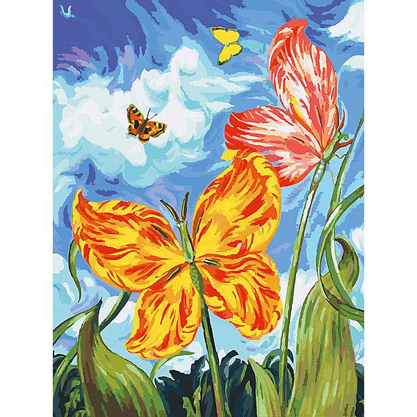 Живопись на холсте Бабочки, 30*40 смРаскраски по номерам<br>Живопись на холсте Бабочки, 30*40 см<br><br>Характеристики:<br><br>• Вес: 567<br>• Размер: 30х40<br>• Краски: акриловые, быстросохнущие<br>• Количество цветов: 40<br>• В наборе: холст на подрамнике, настенное крепление, контрольный лист с рисунком, 40 красок, 3 кисти<br><br>Данный набор позволит любому человеку ощутить себя профессиональным художником. В комплект входит холст с нанесенным на него рисунком по номерам, акриловые краски на водной основе, специальный контрольный лист, предотвращающий ошибки и 3 удобные кисти разных размеров. <br><br>Рисовать на холсте очень удобно, а благодаря номерам на картине и баночках с краской - это совсем просто. Цвета ложатся ровным слоем, перекрывая нанесенный рисунок. Если вы боитесь, что где-то ошиблись – приложите контрольный лист, который полностью повторяет схему. Акриловые краски совершенно безопасны и не имеют запаха. А благодаря настенному креплению вы сможете повесить готовую работу.<br><br><br>Живопись на холсте Бабочки, 30*40 см можно купить в нашем интернет-магазине.<br><br>Ширина мм: 410<br>Глубина мм: 310<br>Высота мм: 250<br>Вес г: 567<br>Возраст от месяцев: 72<br>Возраст до месяцев: 2147483647<br>Пол: Унисекс<br>Возраст: Детский<br>SKU: 5500370