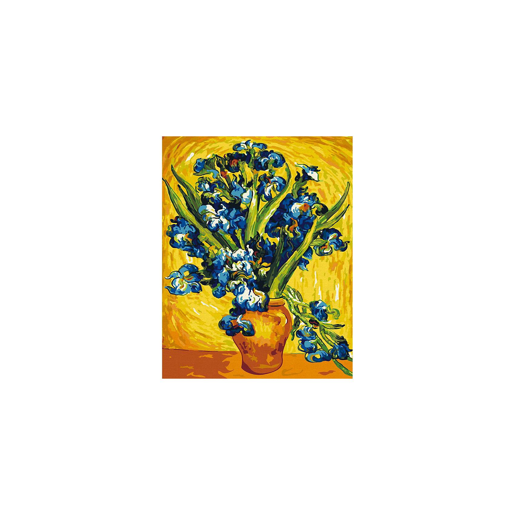 Живопись на холсте Ирисы Ван Гог, 40*50 смРаскраски по номерам<br>Живопись на холсте Ирисы Ван Гог, 40*50 см<br><br>Характеристики:<br><br>• Вес: 567<br>• Размер: 40х50<br>• Краски: акриловые, быстросохнущие<br>• Количество цветов: 23<br>• В наборе: холст на подрамнике, настенное крепление, контрольный лист с рисунком, 23 краски, 3 кисти<br><br>Данный набор позволит любому человеку ощутить себя профессиональным художником. В комплект входит холст с нанесенным на него рисунком по номерам, акриловые краски на водной основе, специальный контрольный лист, предотвращающий ошибки и 3 удобные кисти разных размеров. <br><br>Рисовать на холсте очень удобно, а благодаря номерам на картине и баночках с краской - это совсем просто. Цвета ложатся ровным слоем, перекрывая нанесенный рисунок. Если вы боитесь, что где-то ошиблись – приложите контрольный лист, который полностью повторяет схему. Акриловые краски совершенно безопасны и не имеют запаха. А благодаря настенному креплению вы сможете повесить готовую работу.<br><br><br>Живопись на холсте Ирисы Ван Гог, 40*50 см можно купить в нашем интернет-магазине.<br><br>Ширина мм: 510<br>Глубина мм: 410<br>Высота мм: 250<br>Вес г: 567<br>Возраст от месяцев: 72<br>Возраст до месяцев: 2147483647<br>Пол: Унисекс<br>Возраст: Детский<br>SKU: 5500373
