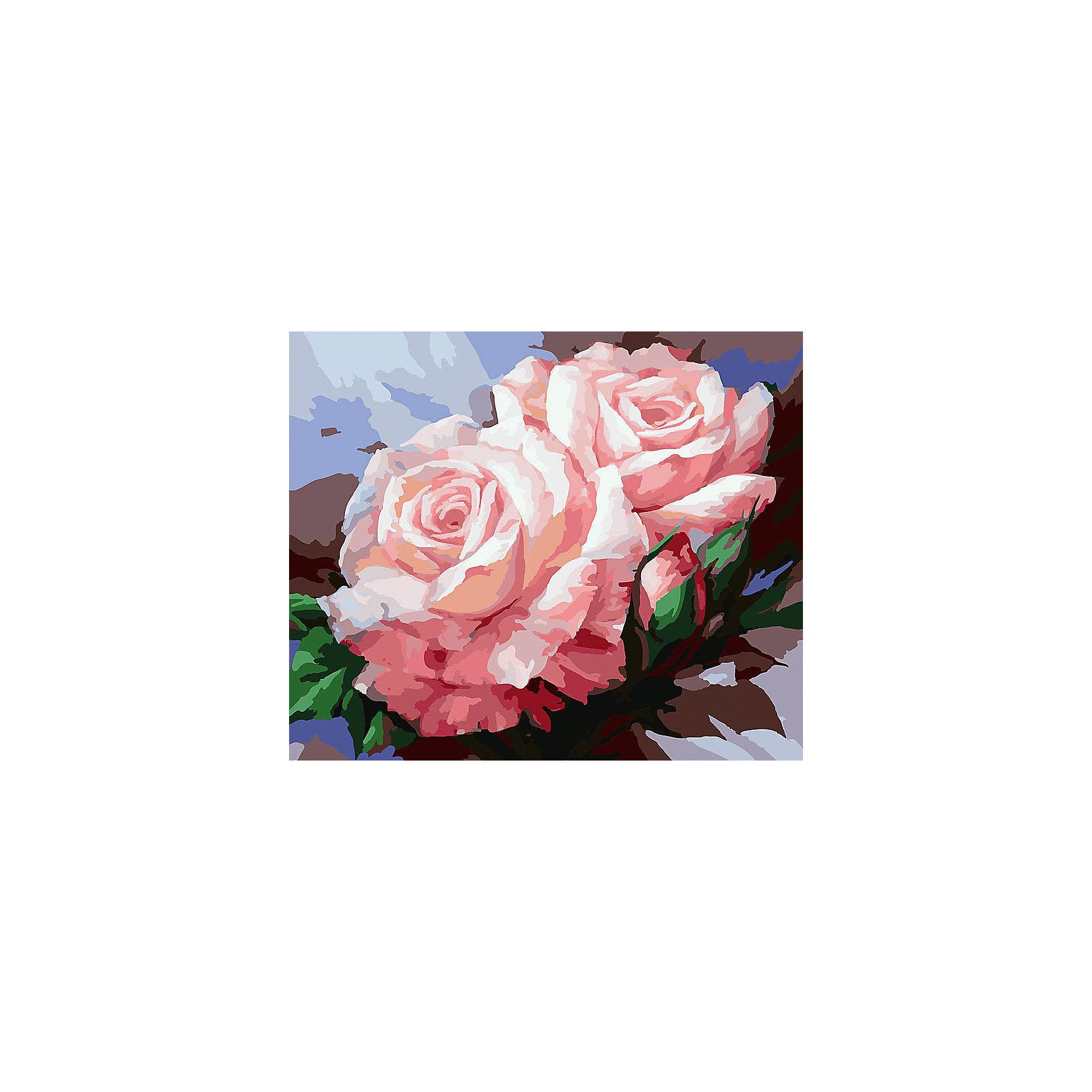 Живопись на холсте Нежные розы, 40*50 смРисование<br>Живопись на холсте Нежные розы, 40*50 см<br><br>Характеристики:<br><br>• Вес: 850<br>• Размер: 40х50<br>• Краски: акриловые, быстросохнущие<br>• Количество цветов: 30<br>• В наборе: холст на подрамнике, настенное крепление, контрольный лист с рисунком, 30 красок, 3 кисти<br><br>Данный набор позволит любому человеку ощутить себя профессиональным художником. В комплект входит холст с нанесенным на него рисунком по номерам, акриловые краски на водной основе, специальный контрольный лист, предотвращающий ошибки и 3 удобные кисти разных размеров. <br><br>Рисовать на холсте очень удобно, а благодаря номерам на картине и баночках с краской - это совсем просто. Цвета ложатся ровным слоем, перекрывая нанесенный рисунок. Если вы боитесь, что где-то ошиблись – приложите контрольный лист, который полностью повторяет схему. Акриловые краски совершенно безопасны и не имеют запаха. А благодаря настенному креплению вы сможете повесить готовую работу.<br><br>Живопись на холсте Нежные розы, 40*50 см можно купить в нашем интернет-магазине.<br><br>Ширина мм: 510<br>Глубина мм: 410<br>Высота мм: 250<br>Вес г: 850<br>Возраст от месяцев: 72<br>Возраст до месяцев: 2147483647<br>Пол: Унисекс<br>Возраст: Детский<br>SKU: 5500391