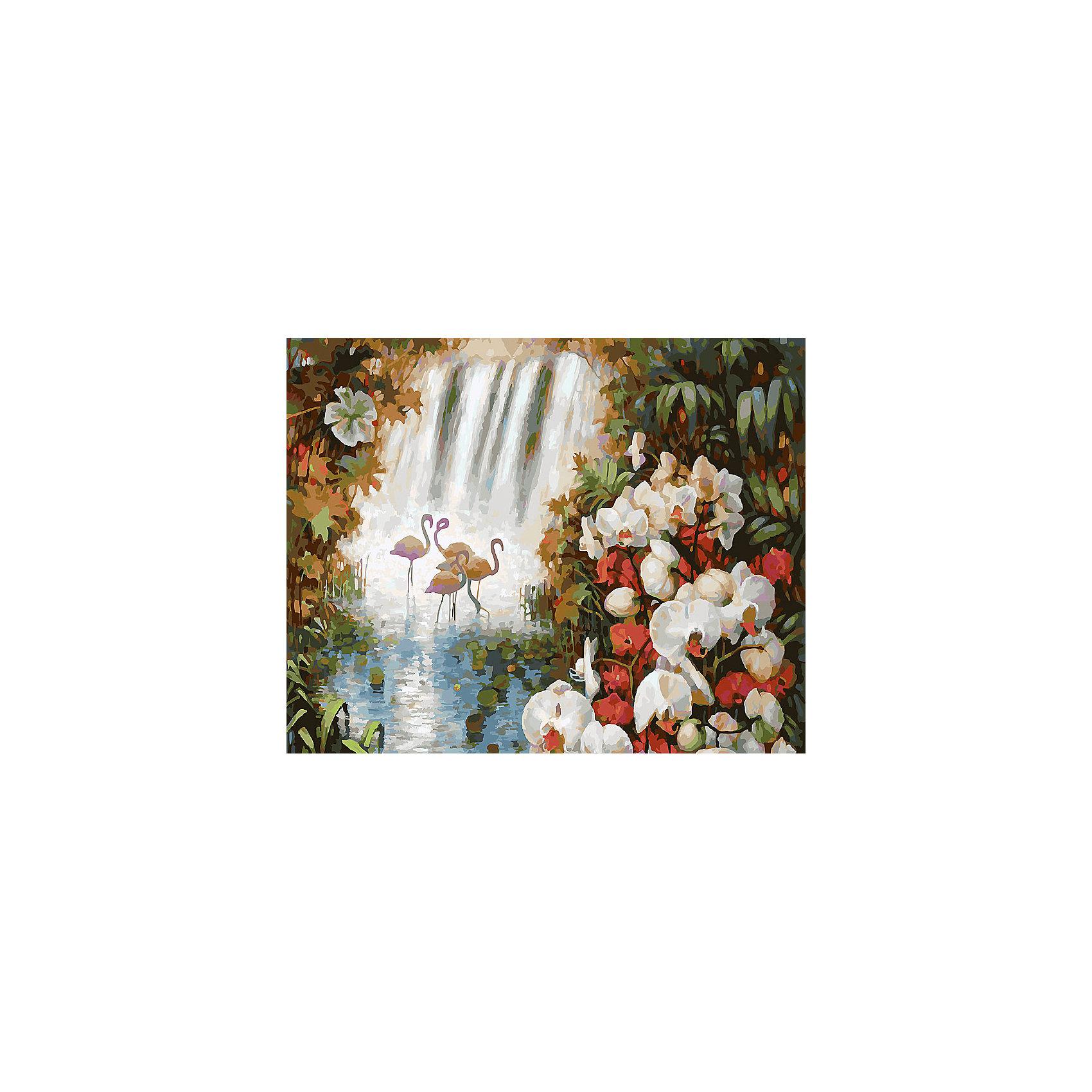 Живопись на холсте Райский сад, 40*50 смЖивопись на холсте Райский сад, 40*50 см<br><br>Характеристики:<br><br>• Вес: 850<br>• Размер: 40х50<br>• Краски: акриловые, быстросохнущие<br>• Количество цветов: 38<br>• В наборе: холст на подрамнике, настенное крепление, контрольный лист с рисунком, 38 красок, 3 кисти<br><br>Данный набор позволит любому человеку ощутить себя профессиональным художником. В комплект входит холст с нанесенным на него рисунком по номерам, акриловые краски на водной основе, специальный контрольный лист, предотвращающий ошибки и 3 удобные кисти разных размеров. <br><br>Рисовать на холсте очень удобно, а благодаря номерам на картине и баночках с краской - это совсем просто. Цвета ложатся ровным слоем, перекрывая нанесенный рисунок. Если вы боитесь, что где-то ошиблись – приложите контрольный лист, который полностью повторяет схему. Акриловые краски совершенно безопасны и не имеют запаха. А благодаря настенному креплению вы сможете повесить готовую работу.<br><br>Живопись на холсте Райский сад, 40*50 см можно купить в нашем интернет-магазине.<br><br>Ширина мм: 510<br>Глубина мм: 410<br>Высота мм: 250<br>Вес г: 850<br>Возраст от месяцев: 72<br>Возраст до месяцев: 2147483647<br>Пол: Унисекс<br>Возраст: Детский<br>SKU: 5500419