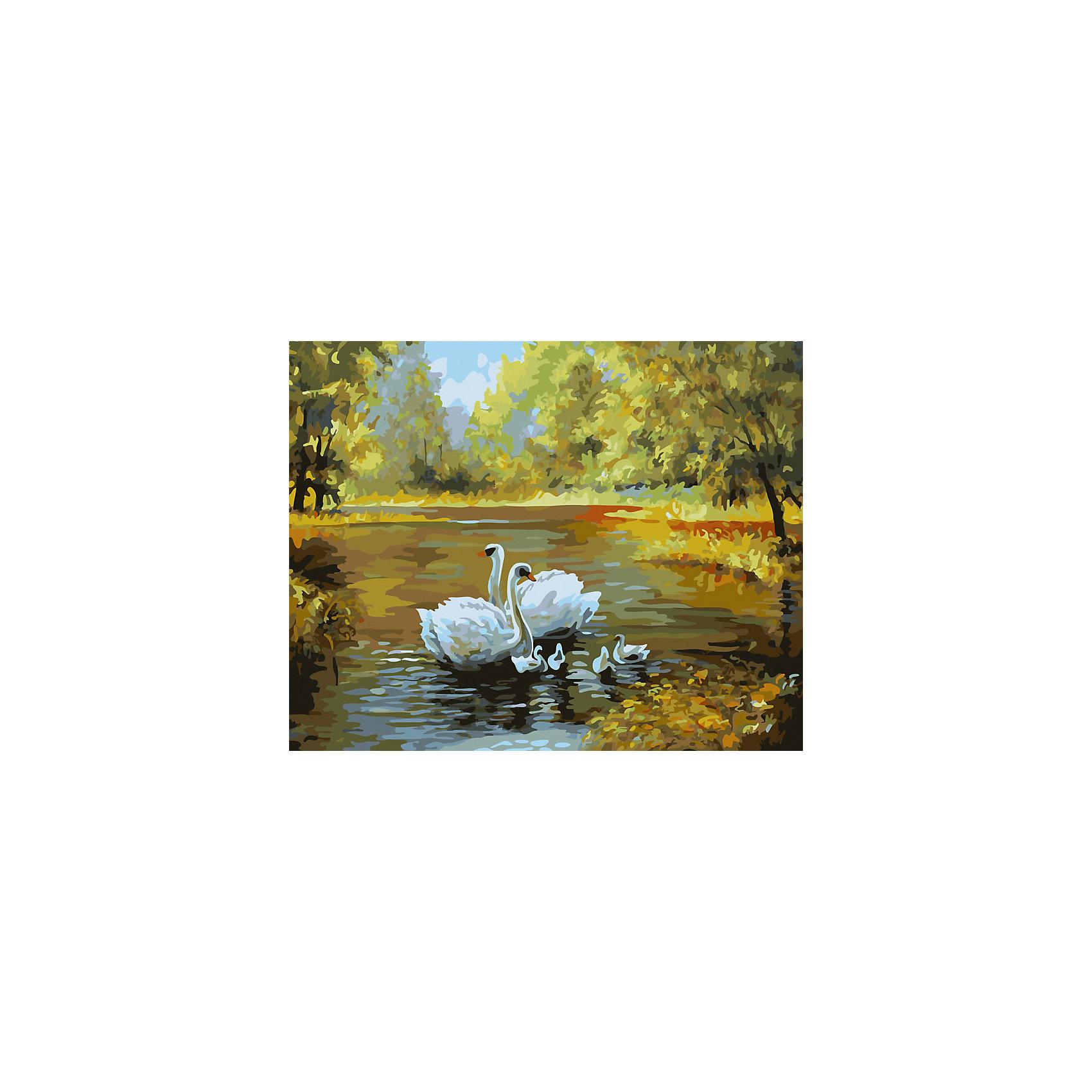 Живопись на холсте Лебеди в пруду, 40*50 смРисование<br>Живопись на холсте Лебеди в пруду, 40*50 см<br><br>Характеристики:<br><br>• Вес: 850<br>• Размер: 40х50<br>• Краски: акриловые, быстросохнущие<br>• Количество цветов: 30<br>• В наборе: холст на подрамнике, настенное крепление, контрольный лист с рисунком, 30 красок, 3 кисти<br><br>Данный набор позволит любому человеку ощутить себя профессиональным художником. В комплект входит холст с нанесенным на него рисунком по номерам, акриловые краски на водной основе, специальный контрольный лист, предотвращающий ошибки и 3 удобные кисти разных размеров. <br><br>Рисовать на холсте очень удобно, а благодаря номерам на картине и баночках с краской - это совсем просто. Цвета ложатся ровным слоем, перекрывая нанесенный рисунок. Если вы боитесь, что где-то ошиблись – приложите контрольный лист, который полностью повторяет схему. Акриловые краски совершенно безопасны и не имеют запаха. А благодаря настенному креплению вы сможете повесить готовую работу.<br><br>Живопись на холсте Лебеди в пруду, 40*50 см можно купить в нашем интернет-магазине.<br><br>Ширина мм: 510<br>Глубина мм: 410<br>Высота мм: 250<br>Вес г: 850<br>Возраст от месяцев: 72<br>Возраст до месяцев: 2147483647<br>Пол: Унисекс<br>Возраст: Детский<br>SKU: 5500422
