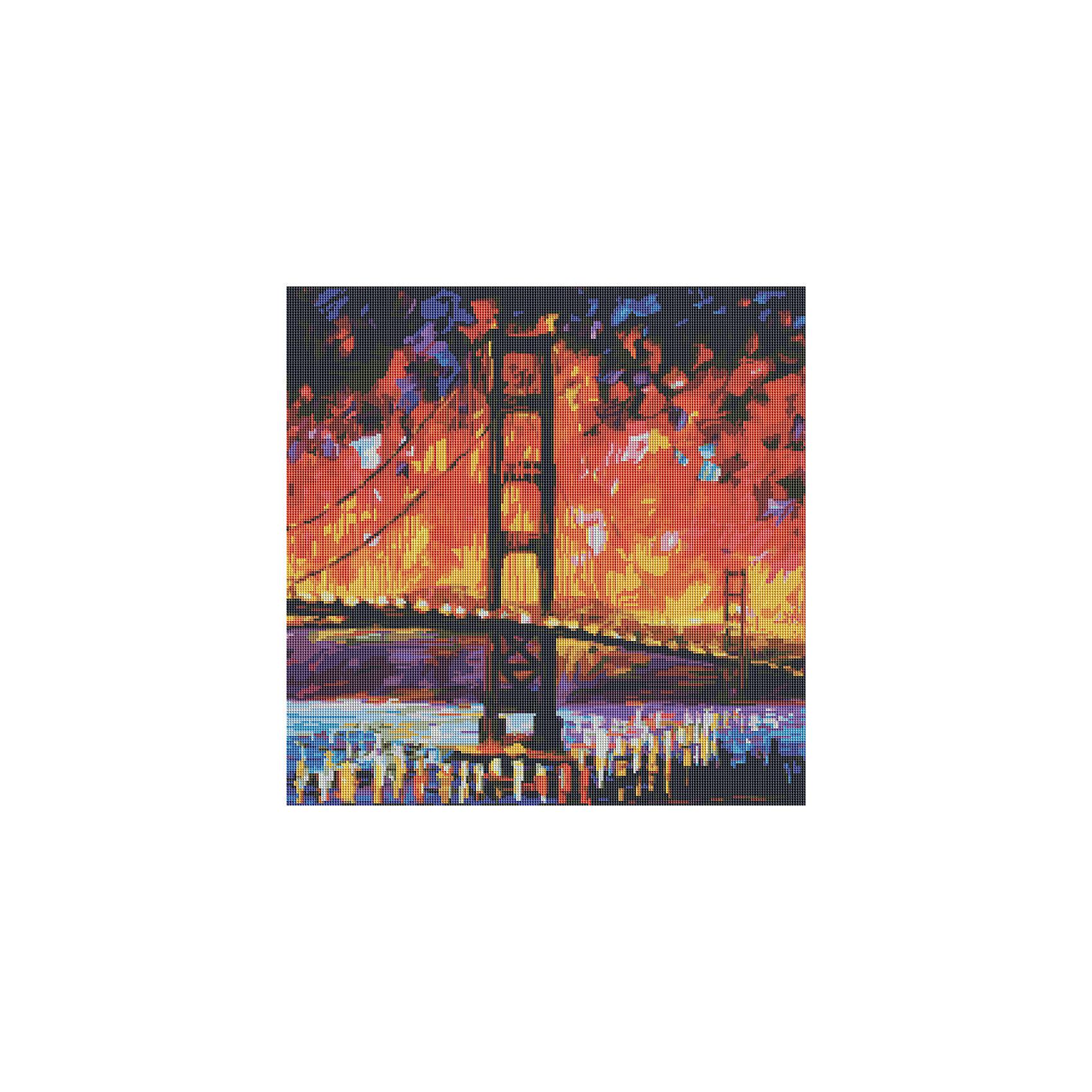 Мозаичная картина Мост Золотые воротаМозаика<br>Мозаичная картина Мост Золотые ворота<br><br>Характеристики:<br><br>• Вес: 900г<br>• Размер: 53х53<br>• Тип камней: квадратный<br>• Размер камней: 2,5х2,5мм<br>• Тип выкладки: 100% заполнение<br>• Количество цветов: 42<br>• В комплекте: основа с клеевым слоем и схемой, набор алмазных камней, пинцет, лоток для мозаики, инструкция<br><br>Данный набор подойдет даже для начинающего рукодельника. Из него выйдет прекрасная мерцающая картина. Нанесение камушков с помощью пинцета не составит труда. В комплекте идет лоточек, в который можно положить нужный вам цвет и избежать рассыпания алмазов по всему рабочему месту. <br><br>Каждый цвет упакован в отдельный пакетик с номером соответствующим номеру на схеме. Весь набор находится в прозрачном тубусе, что делает его аккуратным и компактным.<br><br>Мозаичная картина Мост Золотые ворота можно купить в нашем интернет-магазине.<br><br>Ширина мм: 90<br>Глубина мм: 90<br>Высота мм: 6000<br>Вес г: 900<br>Возраст от месяцев: 72<br>Возраст до месяцев: 2147483647<br>Пол: Унисекс<br>Возраст: Детский<br>SKU: 5500439