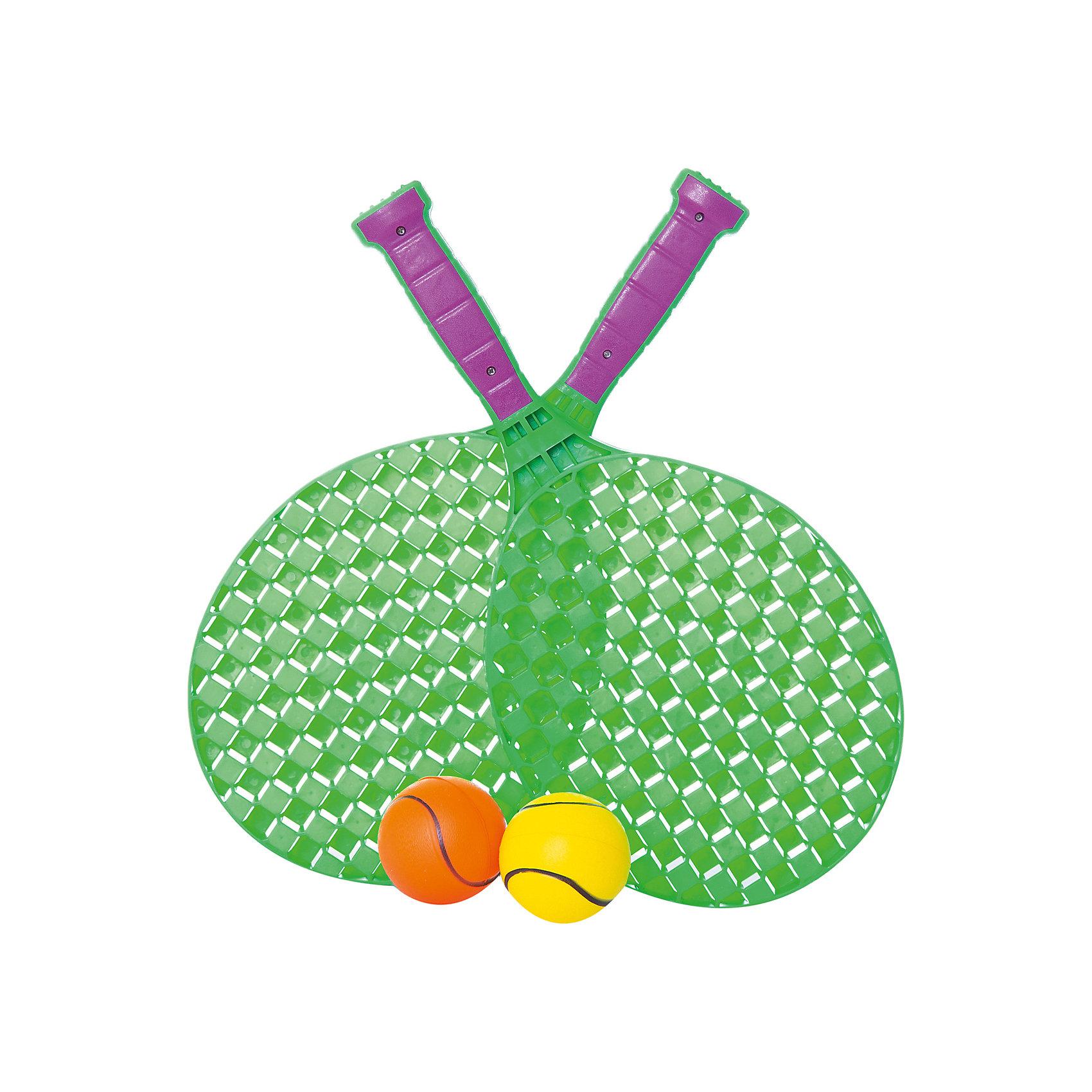 Набор для игры в теннис 2 ракетки и 2 мяча, JUNnewИгровые наборы<br>Набор для игры в теннис: 2 ракетки и 2 мяча в наборе<br><br>Ширина мм: 360<br>Глубина мм: 130<br>Высота мм: 20<br>Вес г: 373<br>Возраст от месяцев: 36<br>Возраст до месяцев: 192<br>Пол: Унисекс<br>Возраст: Детский<br>SKU: 5500895