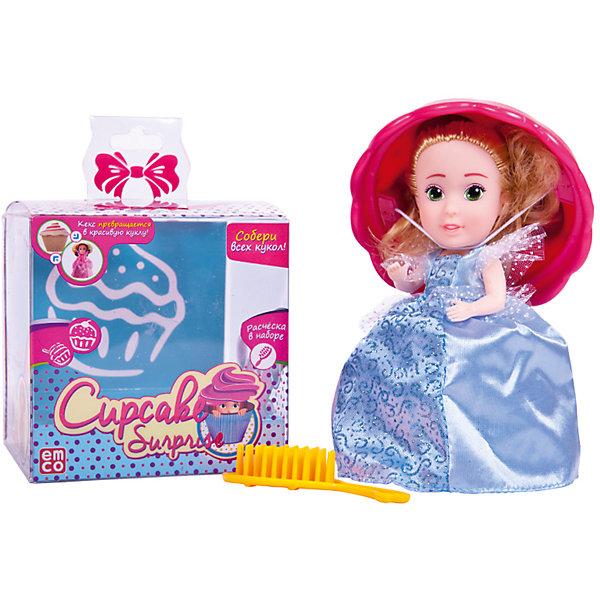 Кукла-сюрприз Cupcake Surprise, с расческой, EMCO