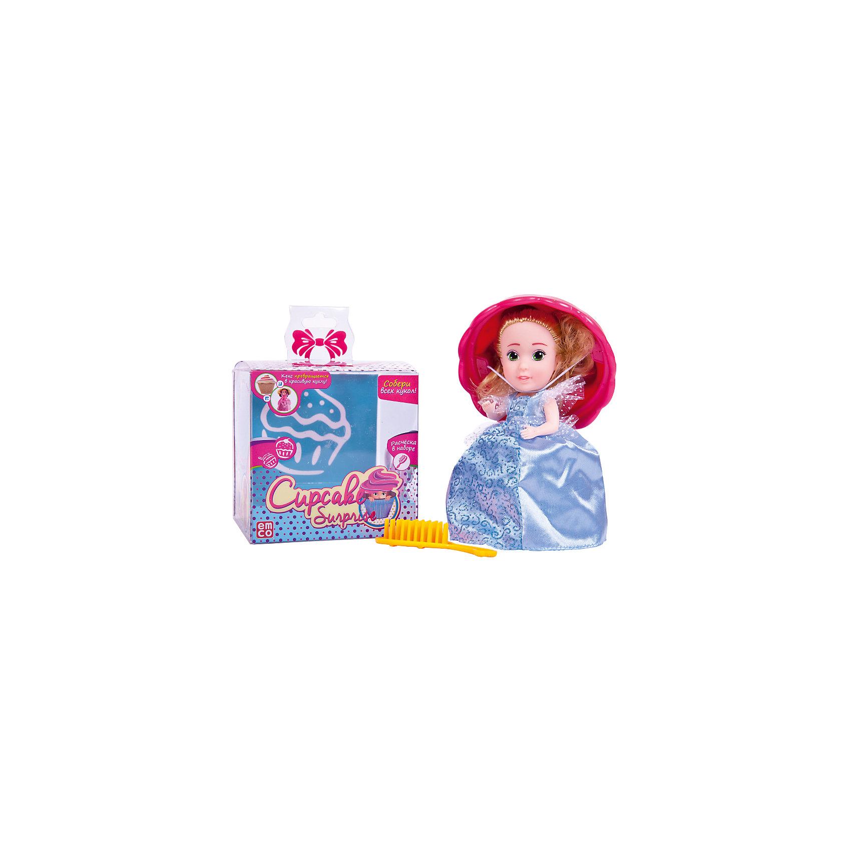 Кукла-сюрприз Cupcake Surprise, с расческой, EMCOКлассические куклы<br>Cupcake Surprise.Кукла-кекс 12 видов в ассортименте, расчесочка в наборе, 12 шт в дисплее (цена за 1 шт)<br><br>Ширина мм: 95<br>Глубина мм: 95<br>Высота мм: 98<br>Вес г: 190<br>Возраст от месяцев: 36<br>Возраст до месяцев: 192<br>Пол: Женский<br>Возраст: Детский<br>SKU: 5500896