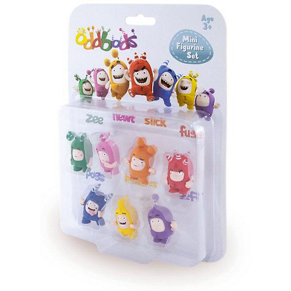 Набор 7 фигурок, h=4 см, Oddbods (Чуддики)Коллекционные фигурки<br>Характеристики:<br><br>• тип игрушки: набор;<br>• возраст: от 3 лет;<br>• комплект: 7 фигурок;<br>• размер: 3x16.4x2 см;<br>• бренд: RP2 Global;<br>• упаковка: блистер на картоне;<br>• материал: пластик.<br><br>Набор 7 фигурок Oddbods (Чуддики) от производителя RP2 Global понравится многим детям и надолго заинтересует их. Данные игрушки представляют собой забавных персонажей, играя с которыми ребенок сможет придумать много интересных и незабываемых сюжетов. Каждая из фигурок выполнена в ярком цвете и передает ту или иную эмоцию.<br><br>Такой набор особенно порадует детей от трех лет, которые увлекаются Чуддиками.  Все детали игрушки изготовлены из безопасного пластика, который прошел всю необходимую сертификацию. Каждый предмет окрашен нетоксичными насыщенными красителями.<br><br>Набор 7 фигурок Oddbods (Чуддики)  можно купить в нашем интернет-магазине.<br>Ширина мм: 30; Глубина мм: 230; Высота мм: 164; Вес г: 100; Возраст от месяцев: 36; Возраст до месяцев: 192; Пол: Унисекс; Возраст: Детский; SKU: 5500898;