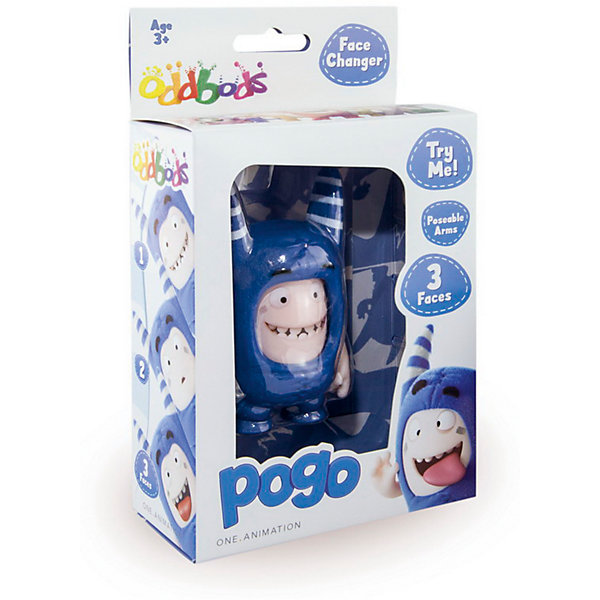 Фигурка с меняющимися эмоциями Пого, 8,5 см, Oddbods (Чуддики), OddbodsИгрушки<br>Характеристики:<br><br>• тип игрушки: фигурка;<br>• возраст: от 1,5 лет;<br>•комплектация: 1 фигурка; <br>• размер: 5х18х11 см;<br>• высота: 8,5 см;<br>• бренд: RP2 Global;<br>• упаковка: картонная коробка блистерного типа;<br>• материал: пластик.<br><br>Фигурка с меняющимися эмоциями Пого, 8,5 см, Oddbods (Чуддики) – это  удивительный Оддбодик, житель маленькой сказочной страны, который обладает своим уникальным характером и окраской. Данная фигурка Oddbods - это неутомимый весельчак Пого, умеющий развеять печаль и расшевелить любого, кому взгрустнулось. У фигурки три сменяющих друг друга лица, выражающие различные эмоции, подвижные ручки. С такой забавной игрушкой ребенок не заскучает.<br><br>Все материалы, использованные здесь, прошли проверку на безопасность для детей. <br><br>Фигурку с меняющимися эмоциями Пого, 8,5 см, Oddbods (Чуддики) можно купить в нашем интернет-магазине.<br>Ширина мм: 50; Глубина мм: 180; Высота мм: 110; Вес г: 100; Возраст от месяцев: 36; Возраст до месяцев: 192; Пол: Унисекс; Возраст: Детский; SKU: 5500904;