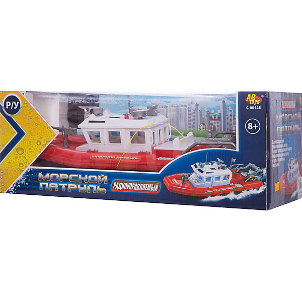 Радиуправляемый катер Морской патруль, ABtoysКорабли и лодки<br>Катер Морской патруль, р/у, на аккумуляторной батарее, в коробке, 42,5х19х16 см<br><br>Ширина мм: 425<br>Глубина мм: 190<br>Высота мм: 160<br>Вес г: 1229<br>Возраст от месяцев: 36<br>Возраст до месяцев: 192<br>Пол: Мужской<br>Возраст: Детский<br>SKU: 5500910