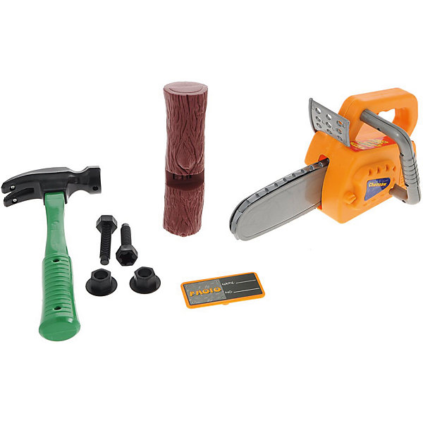 Набор инструментов в чемодане Помогаю Папе, 8 предм., ABtoysНаборы инструментов<br>Характеристики:<br>• возраст: от 3 лет;<br>• дополнительно потребуется: 2 батарейки типа АА;<br>• размер: 33х12х28 см;<br>• комплект: молоток, 2 шурупа, 2 гайки, электропила, кусок полена, значок;<br>• материал: пластик;<br>• бренд: ABtoys;<br>• вес: 770 гр;<br>• количество деталей: 8<br>• страна производитель: Китай.<br><br>Набор инструментов в чемодане «Помогаю Папе» от бренда ABtoys понравится каждому ребенку, увлеченному строительной техникой. Благодаря этому набору малыш станет не только более внимательным и усидчивым, но и разовьет ловкость рук. Игрушки с ранних лет научат малыша первичным навыкам работы с инструментами.<br><br>Набор инструментов состоит из восьми предметов, в чемодане: молоток, 2 шурупа, 2 гайки, электропила, кусок полена, значок. Каждый из предметов покажет ребенку возможности строительства и поможет выяснить, что малышу интересней. Так же в процессе игры родители смогут объяснить ребенку, как устроены многие вещи в доме.<br><br>Для производства используются только высококачественные и безопасные красители, новейшие пресс-формы, поэтому каждый элемент конструктора имеет идеально гладкую поверхность, в связи с чем можно не переживать, что ребенок поранится. Цвета каждого элемента яркие и насыщенные.<br><br>Набор инструментов в чемодане «Помогаю Папе» от бренда ABtoys можно купить в нашем интернет-магазине.<br><br>Ширина мм: 320<br>Глубина мм: 120<br>Высота мм: 280<br>Вес г: 770<br>Возраст от месяцев: 36<br>Возраст до месяцев: 120<br>Пол: Мужской<br>Возраст: Детский<br>SKU: 5500912