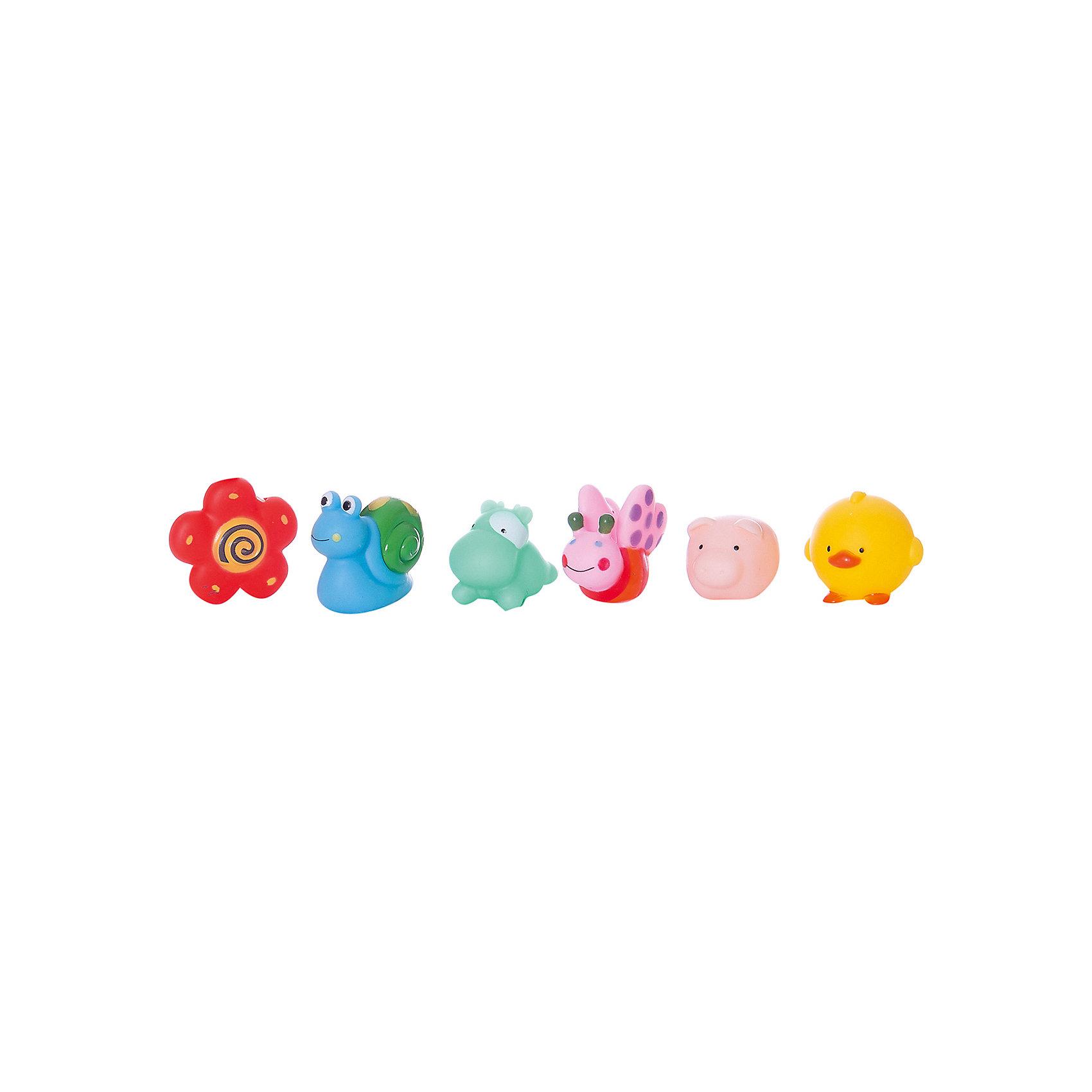 Набор резиновых игрушек для ванной Веселое купание, 6 предм., ABtoysВеселое купание. Набор резиновых игрушек для ванной, в наборе 6 шт., в пакете, 16х18х3см<br><br>Ширина мм: 160<br>Глубина мм: 180<br>Высота мм: 30<br>Вес г: 83<br>Возраст от месяцев: 36<br>Возраст до месяцев: 96<br>Пол: Унисекс<br>Возраст: Детский<br>SKU: 5500916