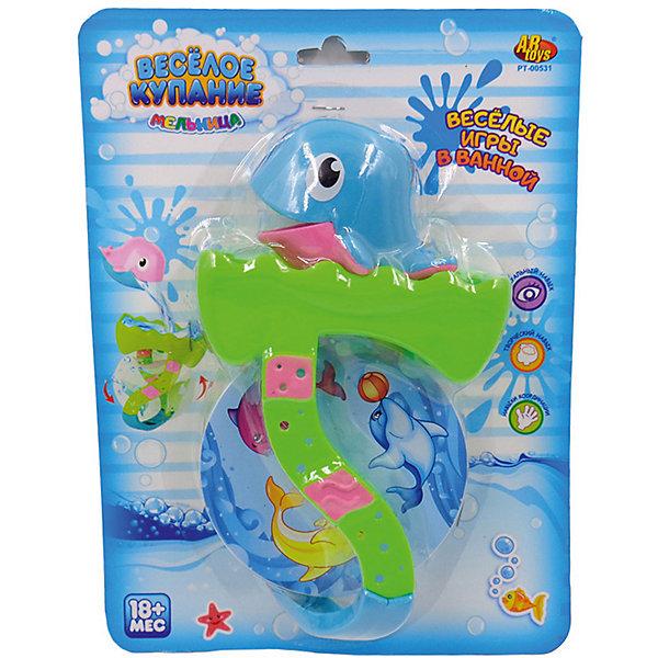 Дельфин для ванной, с аксессуарами, Веселое купание, 2 предм, ABtoysИгрушки для ванной<br>Веселое купание. Дельфин для ванной, в наборе с аксессуарами (2 предмета), 2 вида в ассортименте, на блистере, 21х28х6,5 см<br>Ширина мм: 210; Глубина мм: 280; Высота мм: 65; Вес г: 125; Возраст от месяцев: 36; Возраст до месяцев: 96; Пол: Унисекс; Возраст: Детский; SKU: 5500929;