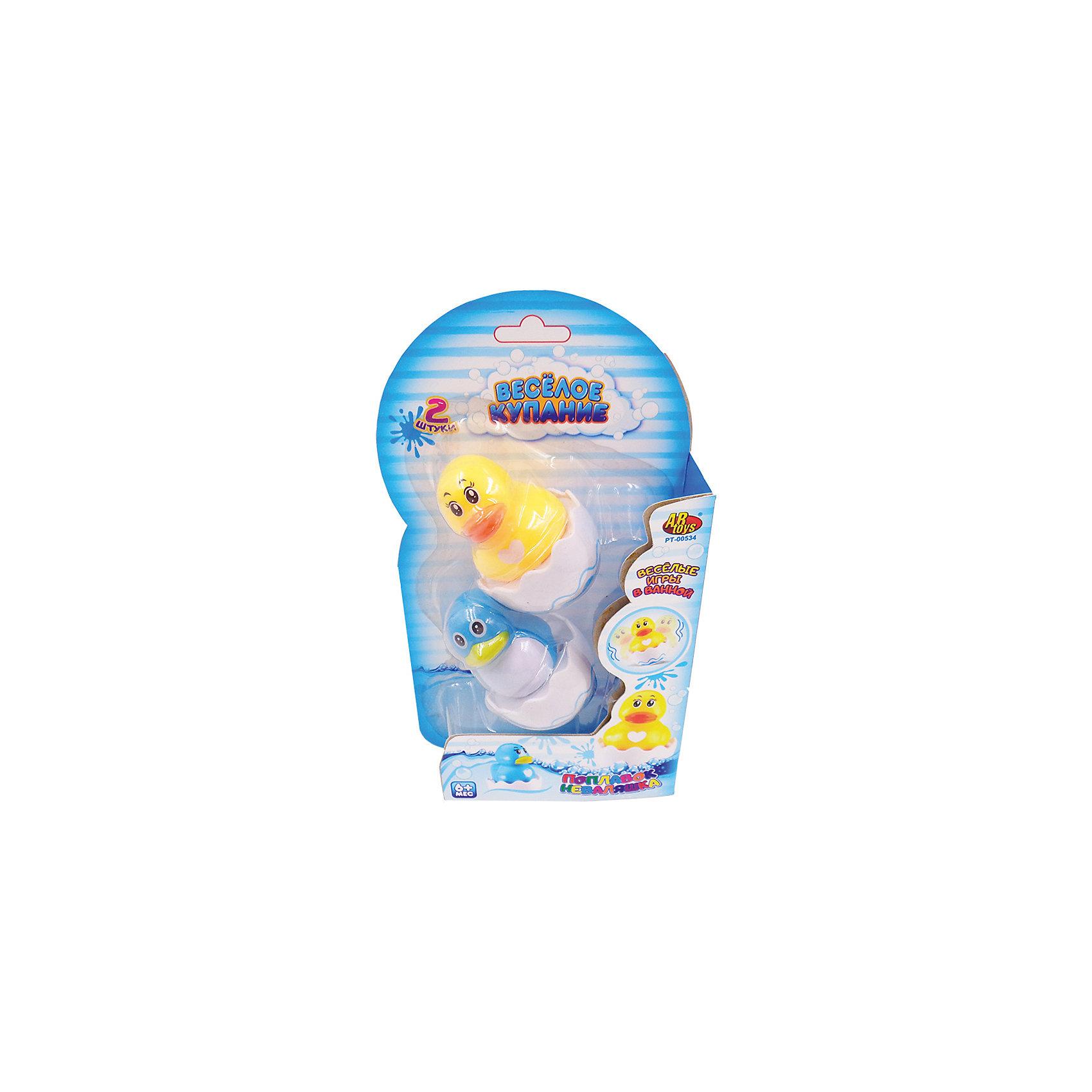 Игрушки для ванной - Уточка и цыпленок (поплавок), Веселое купание, ABtoysВеселое купание. Игрушки для ванной, в наборе уточка и цыпленок (поплавок), на блистере, 14х4х24,5 см<br><br>Ширина мм: 140<br>Глубина мм: 40<br>Высота мм: 245<br>Вес г: 121<br>Возраст от месяцев: 36<br>Возраст до месяцев: 96<br>Пол: Унисекс<br>Возраст: Детский<br>SKU: 5500931