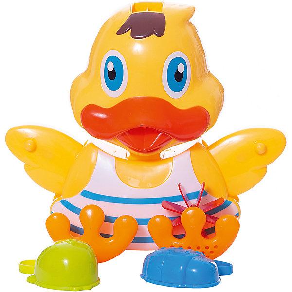 Утенок-мельница для ванной, с аксессуарами (3 предмета), Веселое купание, ABtoysИгрушки для ванной<br>Характеристики:<br><br>• тип игрушки: игрушки для ванной;<br>• возраст: от 1 года;<br>• вес: 500 гр;<br>• комплектация: утенок, 2 формочки;<br>• размер: 31,8x9,6x24,3 см;<br>• бренд: Abtoys;<br>• упаковка: картонная коробка блистерного типа;<br>• материал: пластик.<br><br>Утенок-мельница для ванной с двумя предметами из сери «Веселое купание» от бренда ABtoys станет отличным подарком для ребенка от 1 года. Утенок крутится и создаёт вокруг себя множество брызг, чем сильно порадует ребенка. При этом игрушке не страшна вода, потому что все детали изготовлены из качественного пластика и покрыты влагоустойчивыми красителями.<br><br>С такой игрой ребенок не только весело проведет время, но и сможет развить цветовое восприятие, концентрацию внимания, ловкость, тактильные ощущения и координацию.<br><br>Все детали игрушки изготовлены из безопасного пластика, который прошел всю необходимую сертификацию. Каждый предмет окрашен нетоксичными насыщенными красителями.<br><br>Утенка-мельницу для ванной с двумя предметами из сери «Веселое купание» от бренда ABtoys можно купить в нашем интернет-магазине.<br>Ширина мм: 318; Глубина мм: 243; Высота мм: 96; Вес г: 500; Возраст от месяцев: 36; Возраст до месяцев: 96; Пол: Унисекс; Возраст: Детский; SKU: 5500934;