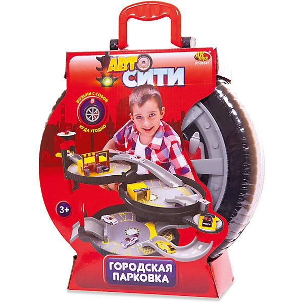 Парковка АвтоСити, 3-х уровневая, в чемоданчике-автошине, ABtoysПарковки и гаражи<br>Характеристики:<br><br>• тип игрушки: детские парковки и гаражи;<br>• возраст: от 3 лет;<br>• комплектация: вертолетная площадка, заправка, автомойка, 2 машинки, вертолет, инструкция по сборке;<br>• размер: 42x33x14 см;<br>• вес: 1,830 кг.<br>• бренд: Abtoys;<br>• упаковка: пластиковый чемоданчик;<br>• материал: пластик.<br><br>Парковка из серии «АвтоСити» 3-х уровневая, в чемоданчике-автошине, от бренда ABtoys станет отличным подарком для ребенка от трех лет. В этом наборе предусмотрено все для веселой игры с двумя машинками и вертолетом: трехуровневая парковка, вертолетная площадка, заправка, автомойка.<br><br>Городская парковка от торговой марки Abtoys – это уменьшенная копия современной удобной стоянки, которая максимально приближена к оригиналу. Благодаря крупным деталям и простой конструкции ребенок сможет собрать паркинг без помощи взрослых. Машинки, входящие в комплект, имеют вращающиеся колёсики на корпусе, поэтому их удобно катать по этажам, а лопасти вертолета могут вращаться. Парковка имеет устойчивую конструкцию, она не деформируется во время игры благодаря высокопрочному пластику, из которого она выполнена. Комплект упакован в удобный чемоданчик, выполненный в виде автомобильной шины.<br><br>Парковку из серии «АвтоСити» 3-х уровневая, в чемоданчике-автошине, от бренда ABtoys можно купить в нашем интернет-магазине.<br>Ширина мм: 420; Глубина мм: 330; Высота мм: 140; Вес г: 1830; Возраст от месяцев: 36; Возраст до месяцев: 120; Пол: Мужской; Возраст: Детский; SKU: 5500938;
