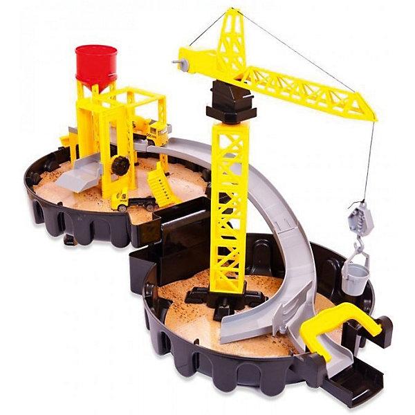 Двухуровневая парковка ABtoys Строительная площадкаПарковки и гаражи<br>Характеристики:<br><br>• возраст: от 3 лет;<br>• в наборе: машина бетономешалка, грузовая машина, подъемная установка с краном, установка с цистерной, ведро с песком, инструкция;<br>• размер: 28x36x10,5 см;<br>• материал: пластик;<br>• бренд: ABtoys;<br>• вес: 1,175 кг;<br>• упаковка: пластиковый чемоданчик;<br>• страна производитель: Китай.<br><br>Парковка «АвтоСити» строительная площадка 2-х уровневая в чемоданчике-автошине от бренда Abtoys станет отличным подарком для любого ребенка. Двухуровневая строительная площадка оснащена дорогой, по которой можно катать грузовые машинки. Подарит вашему ребенку невероятно реалистичную и захватывающую игру.<br><br>Трасса имеет бортики, которые обеспечивают безопасность при передвижении транспортных средств. Подъемная установка с краном оснащена подвижной стрелой и опускающимся и поднимающимся крюком. Смесительное устройство бетономешалки вращается. Набор поможет ребенку развить фантазию, логику и моторику.<br>Строительная площадка от Abtoys – это уменьшенная копия современной удобной стоянки, которая максимально приближена к оригиналу. Яркий комплекс обязательно понравится маленьким любителям автомобилей.<br><br>Двухуровневая площадка включает в себя подъемную установку с краном и установку с цистерной, бетономешалку, грузовую машину и другие элементы. Благодаря крупным деталям и простой конструкции ребенок сможет собрать площадку без помощи взрослых. Машинки, входящие в комплект, имеют вращающиеся колёсики на корпусе, поэтому их удобно катать по этажам.<br>Площадка имеет устойчивую конструкцию, она не деформируется во время игры благодаря высокопрочному пластику, из которого она выполнена. Комплект упакован в удобный чемоданчик, выполненный в виде автомобильной шины.<br><br>Игра с площадкой поможет ребенку развить моторику рук, творческий потенциал, усидчивость и аккуратность. Набор изготовлен из безопасного пластика, который прошел необходимую сертифик